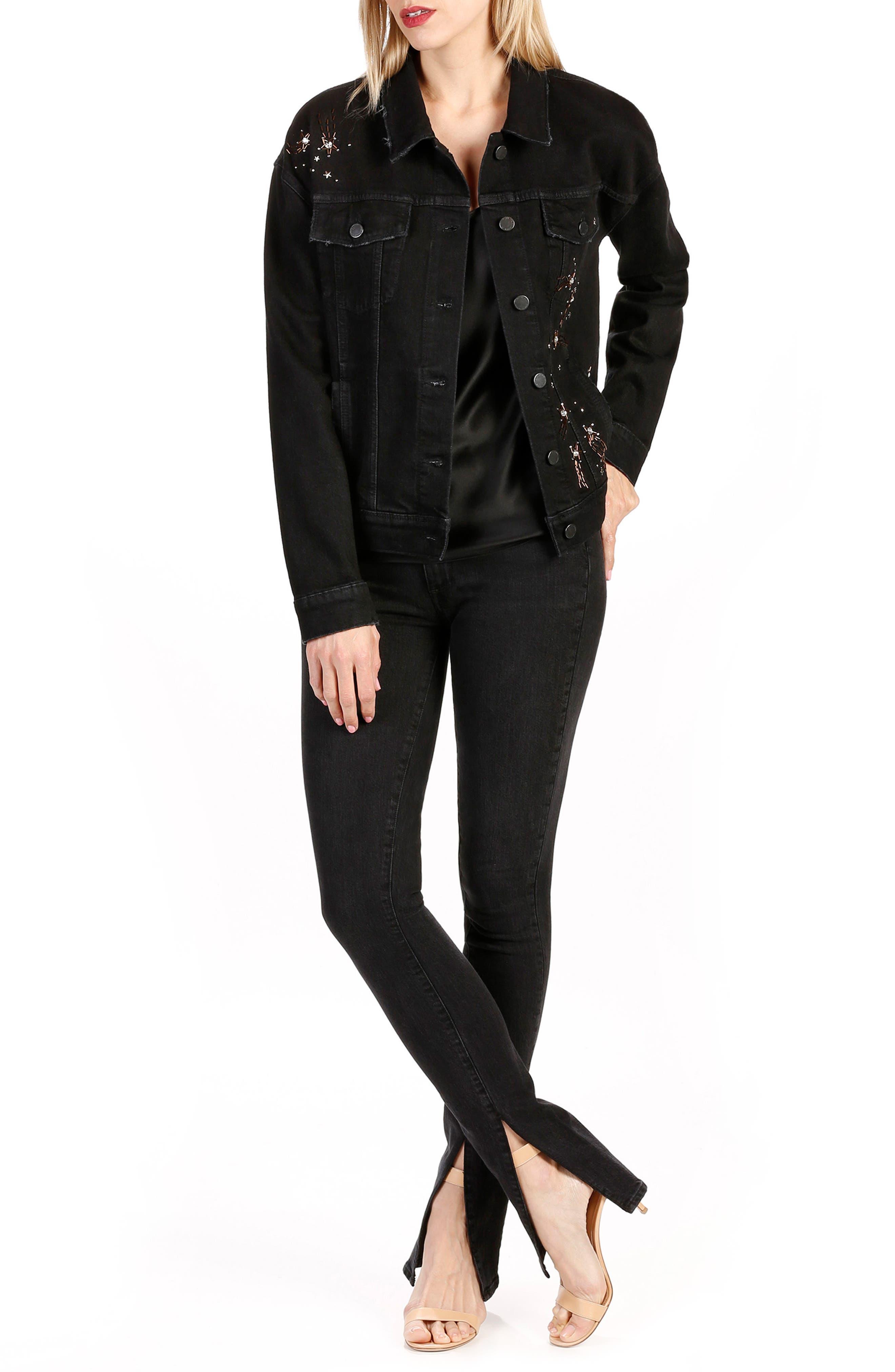 Rosie HW x PAIGE Constance Skinny Jeans,                             Alternate thumbnail 2, color,                             Vintage Noir