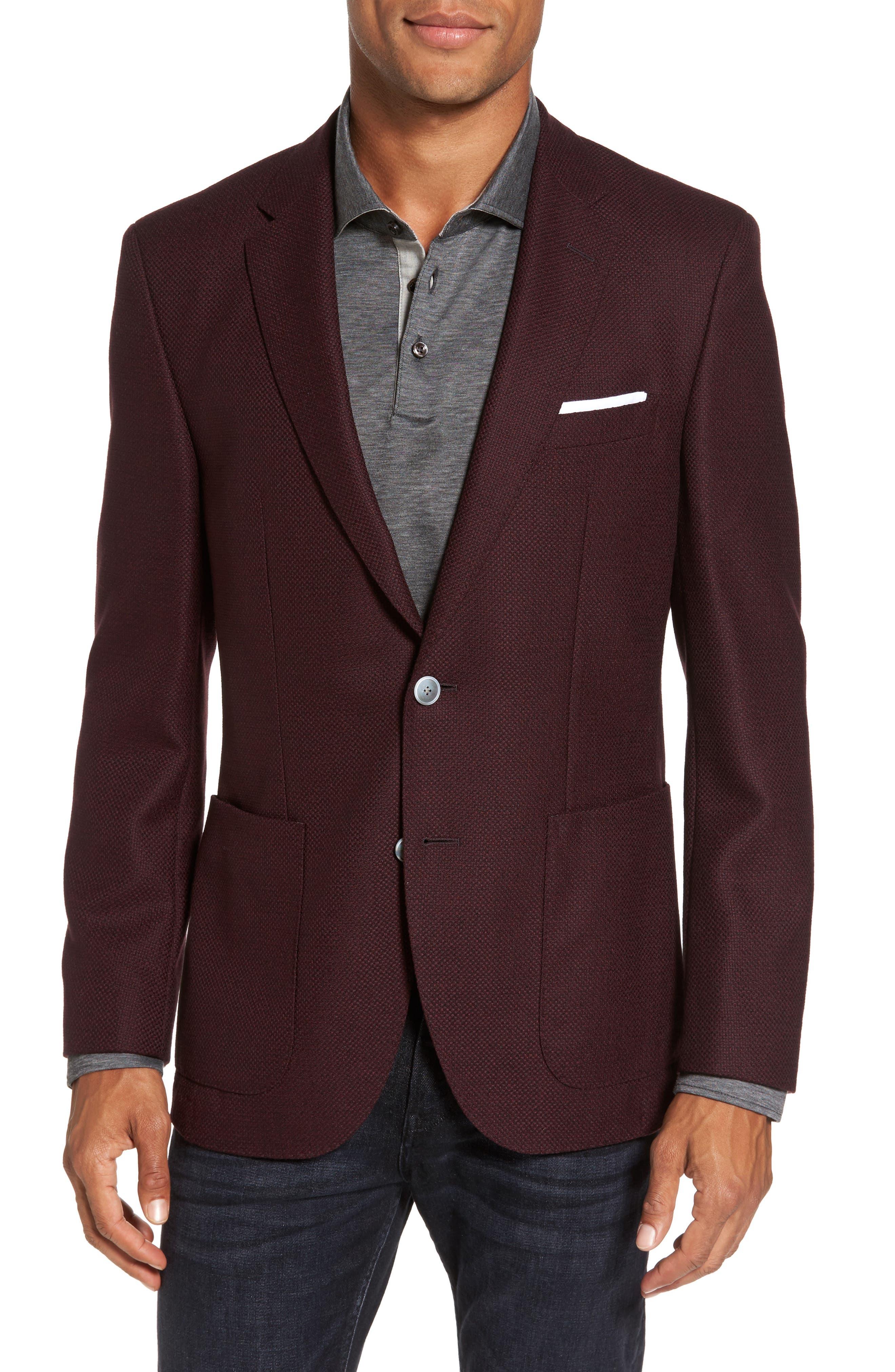 Alternate Image 1 Selected - BOSS Janson Trim Fit Wool Blazer