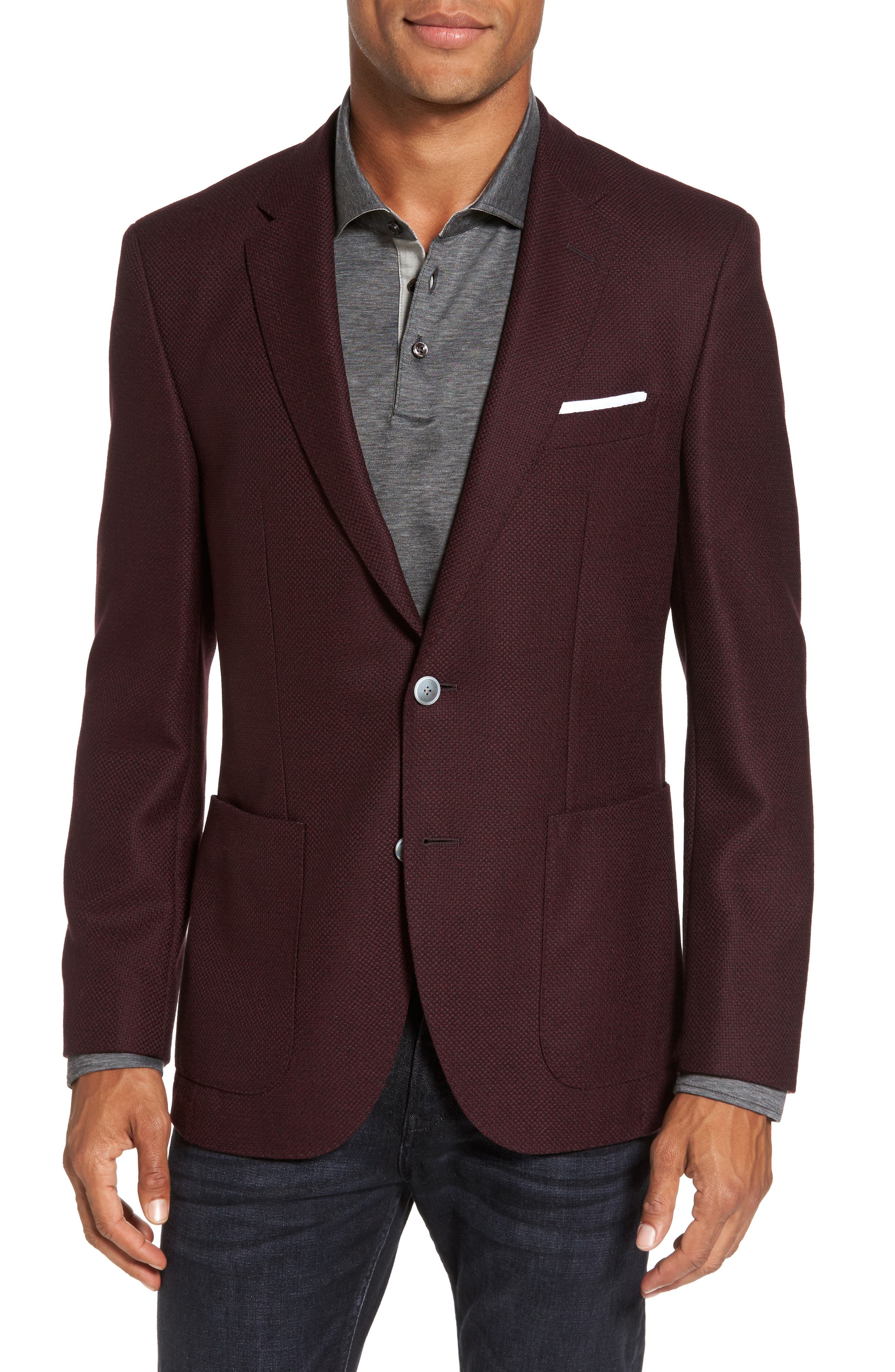 BOSS Janson Trim Fit Wool Blazer