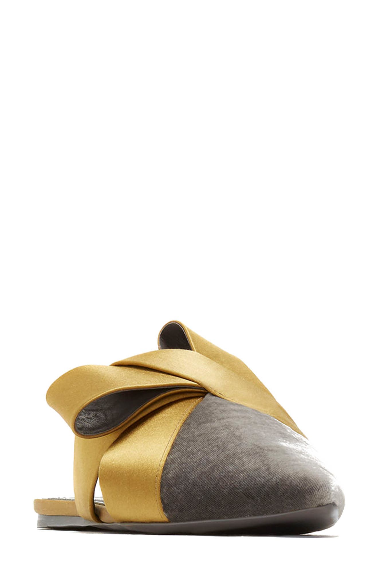 Cresida Pointy Toe Mule,                         Main,                         color, Lead/ Mustard