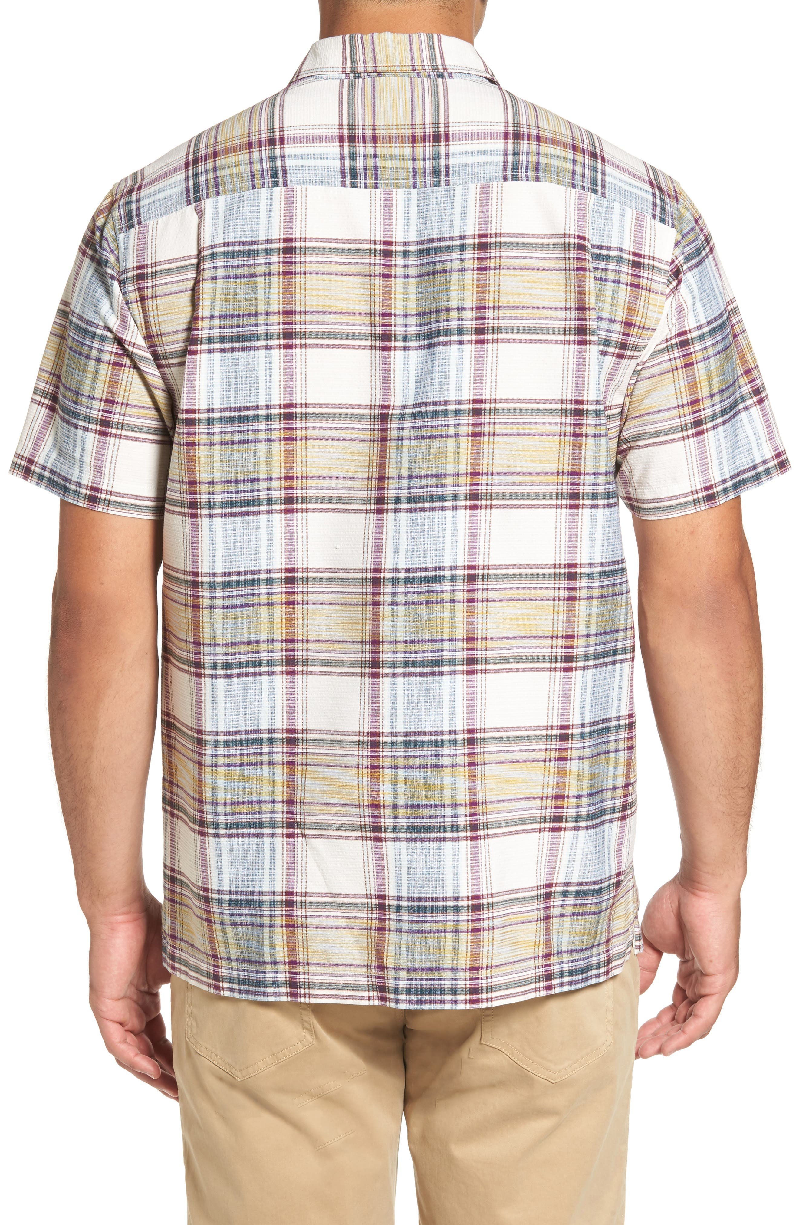 Alternate Image 2  - Tommy Bahama Lazlo Plaid Standard Fit Silk & Cotton Camp Shirt