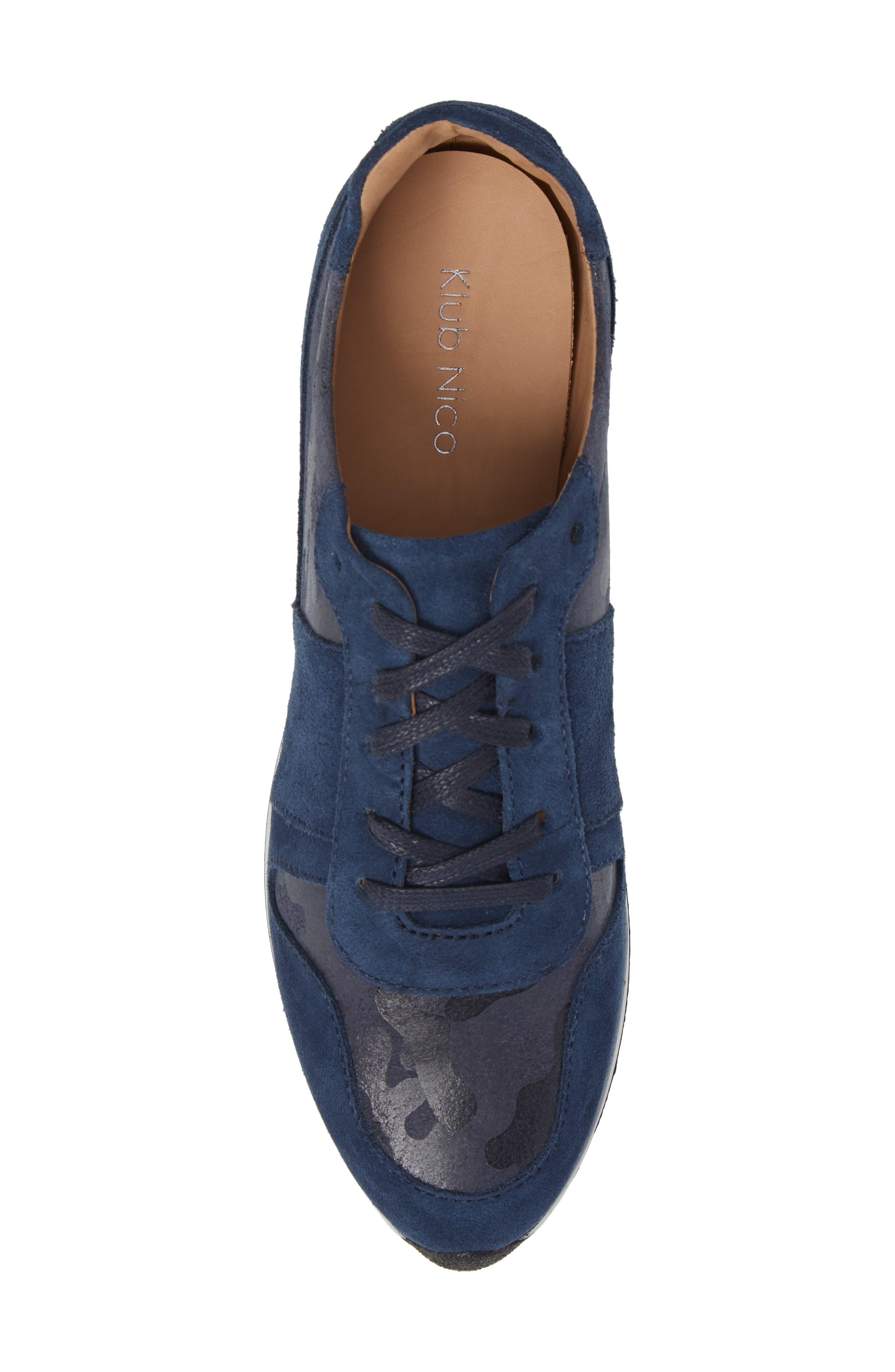 Stefani Sneaker,                             Alternate thumbnail 5, color,                             Camo Nubuck Leather
