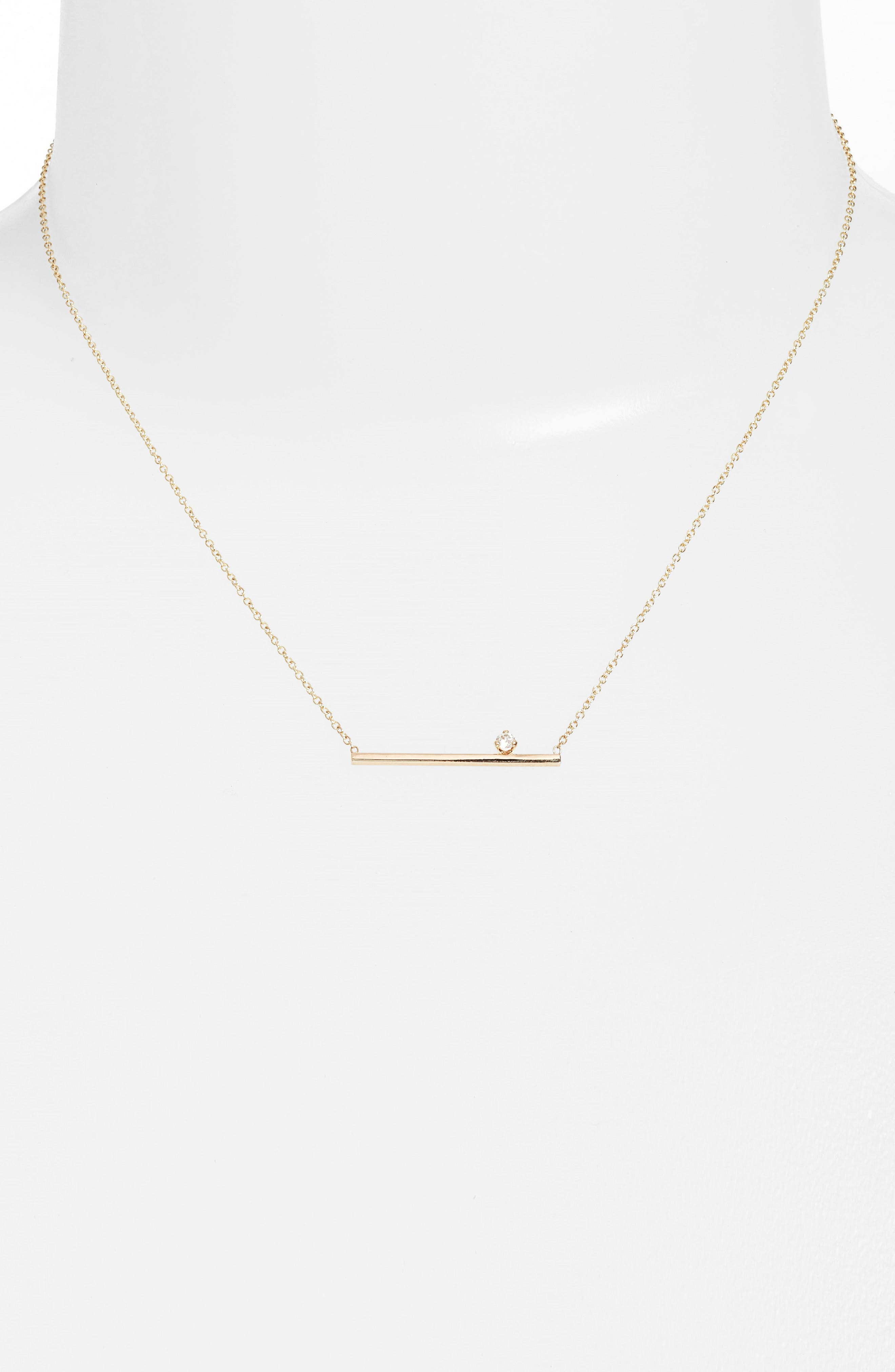 Floating Diamond Pendant Necklace,                             Main thumbnail 1, color,                             Yellow Gold