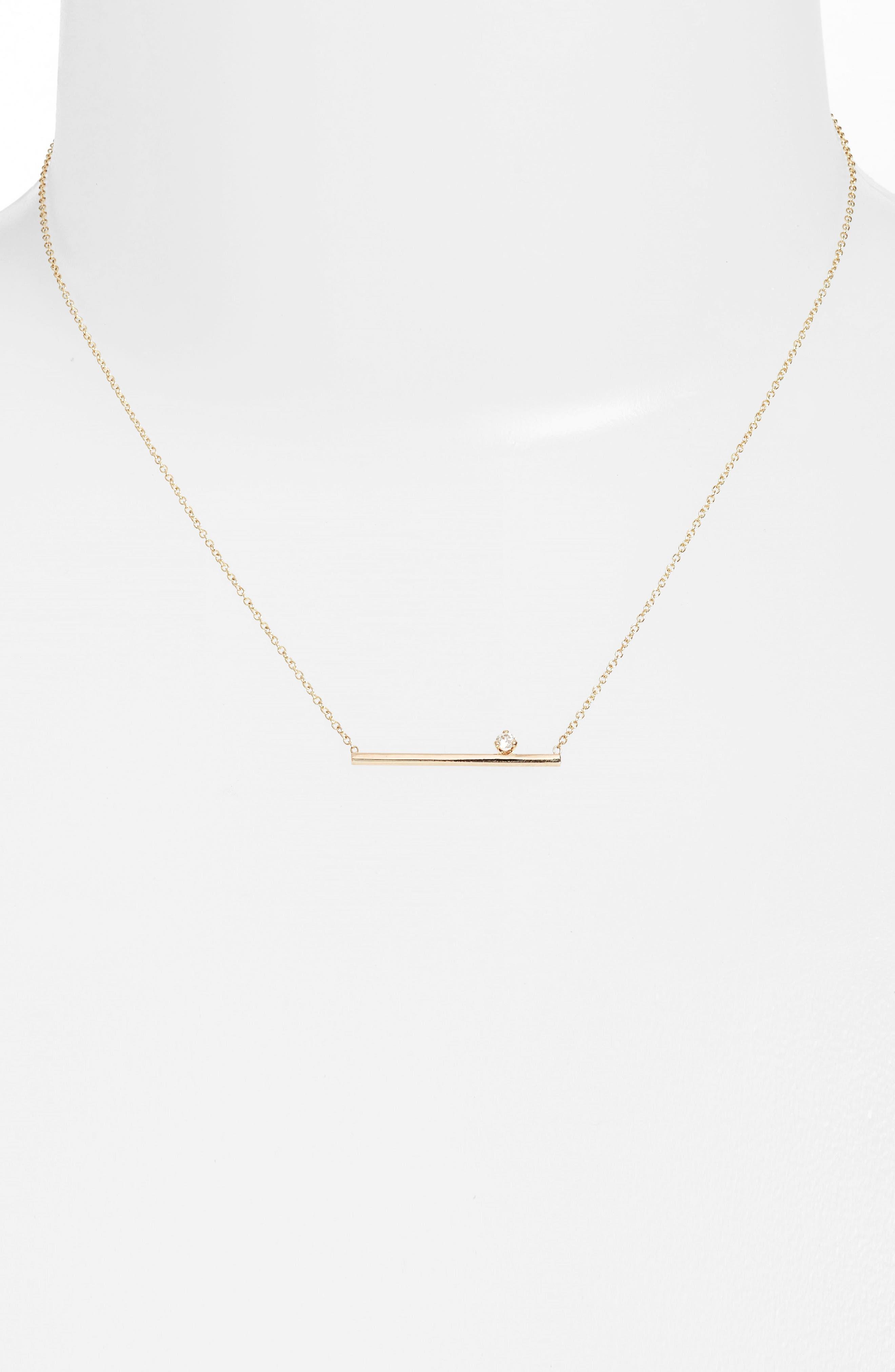 Zoë Chicco Floating Diamond Pendant Necklace