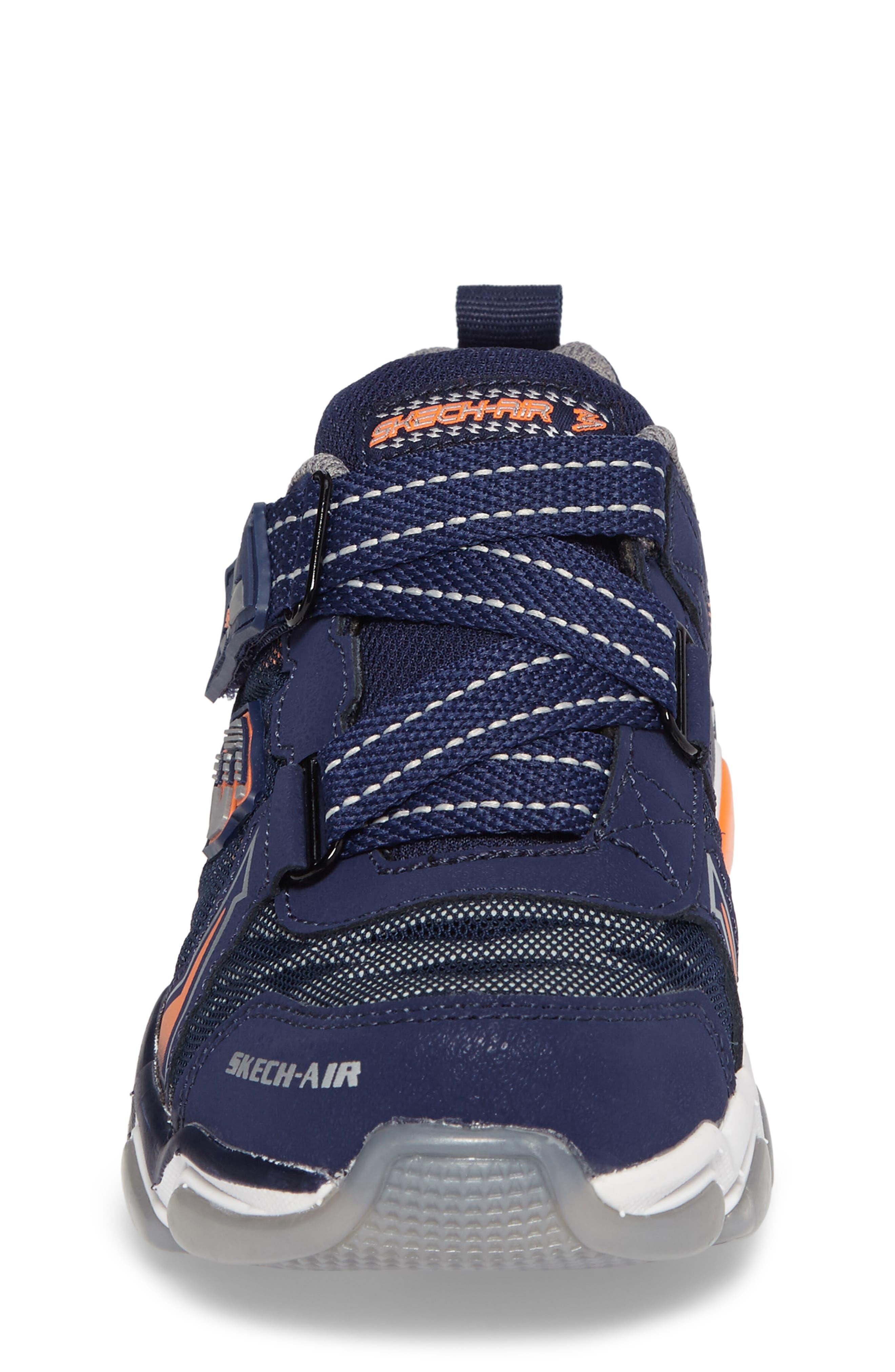 Skech-Air 3.0 Downswitch Sneaker,                             Alternate thumbnail 4, color,                             Navy/ Orange