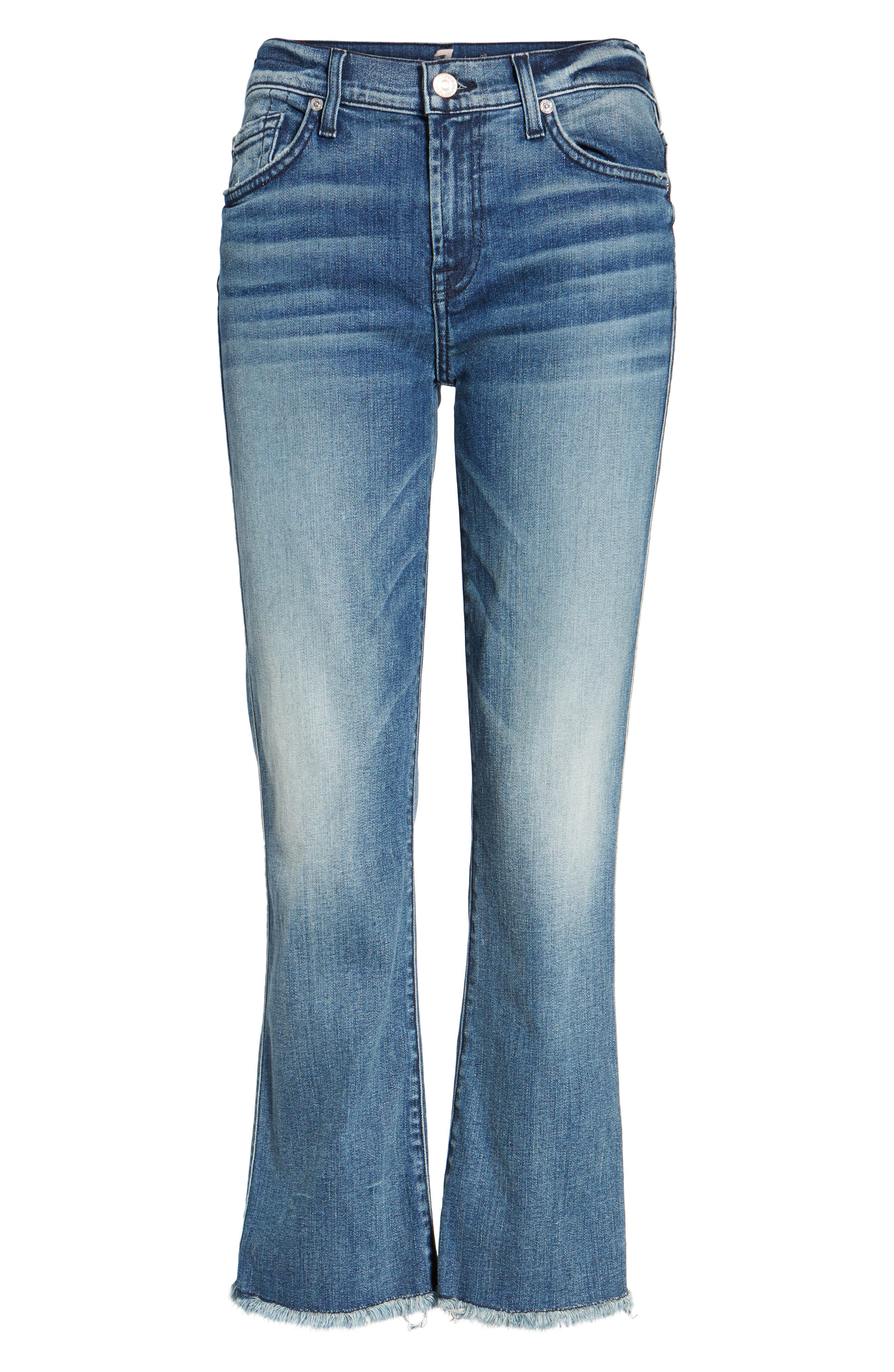 Crop Bootcut Jeans,                             Alternate thumbnail 6, color,                             Wall Street Heritage