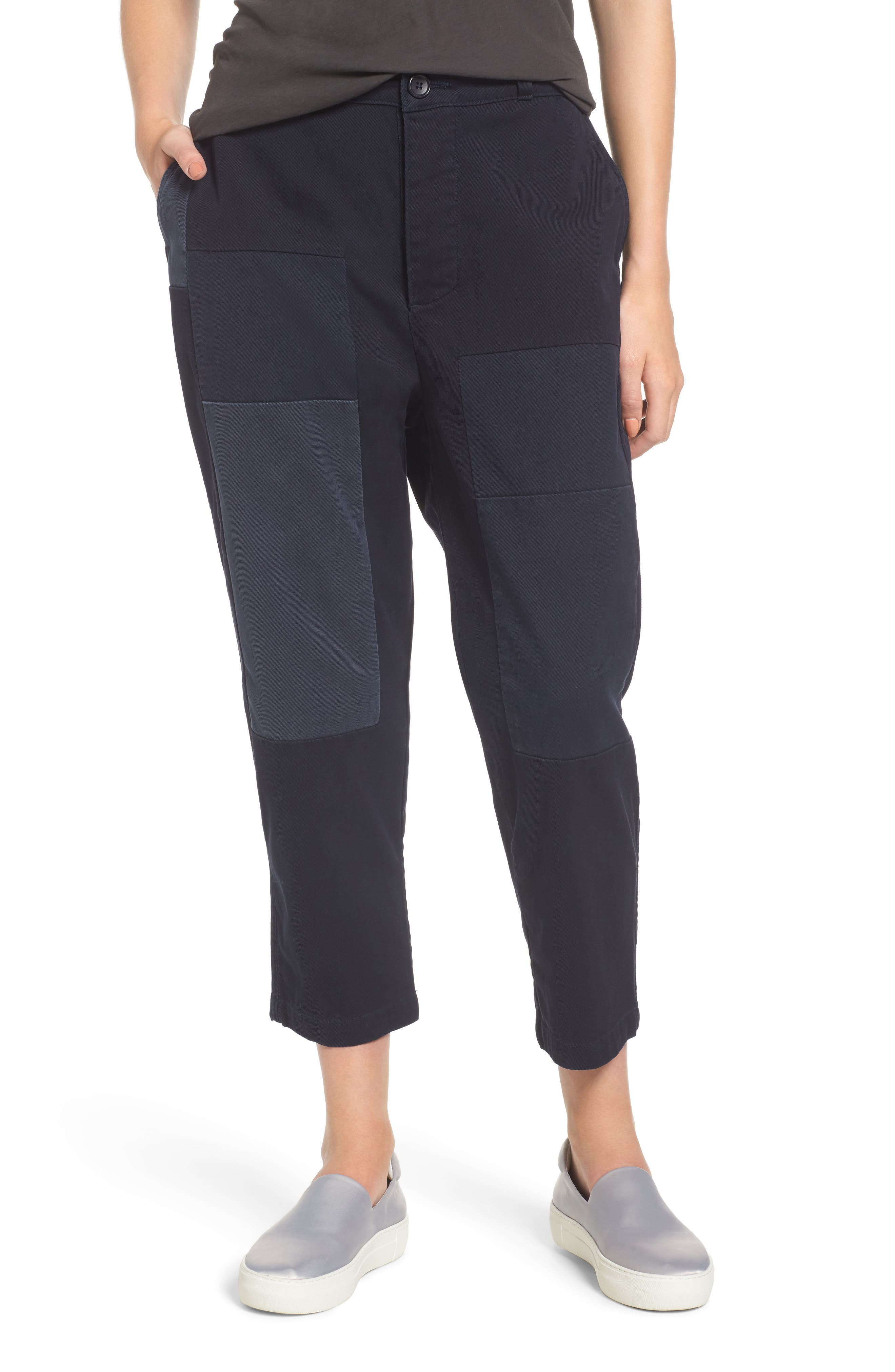 Crop Straight Leg Pants,                         Main,                         color, Deep