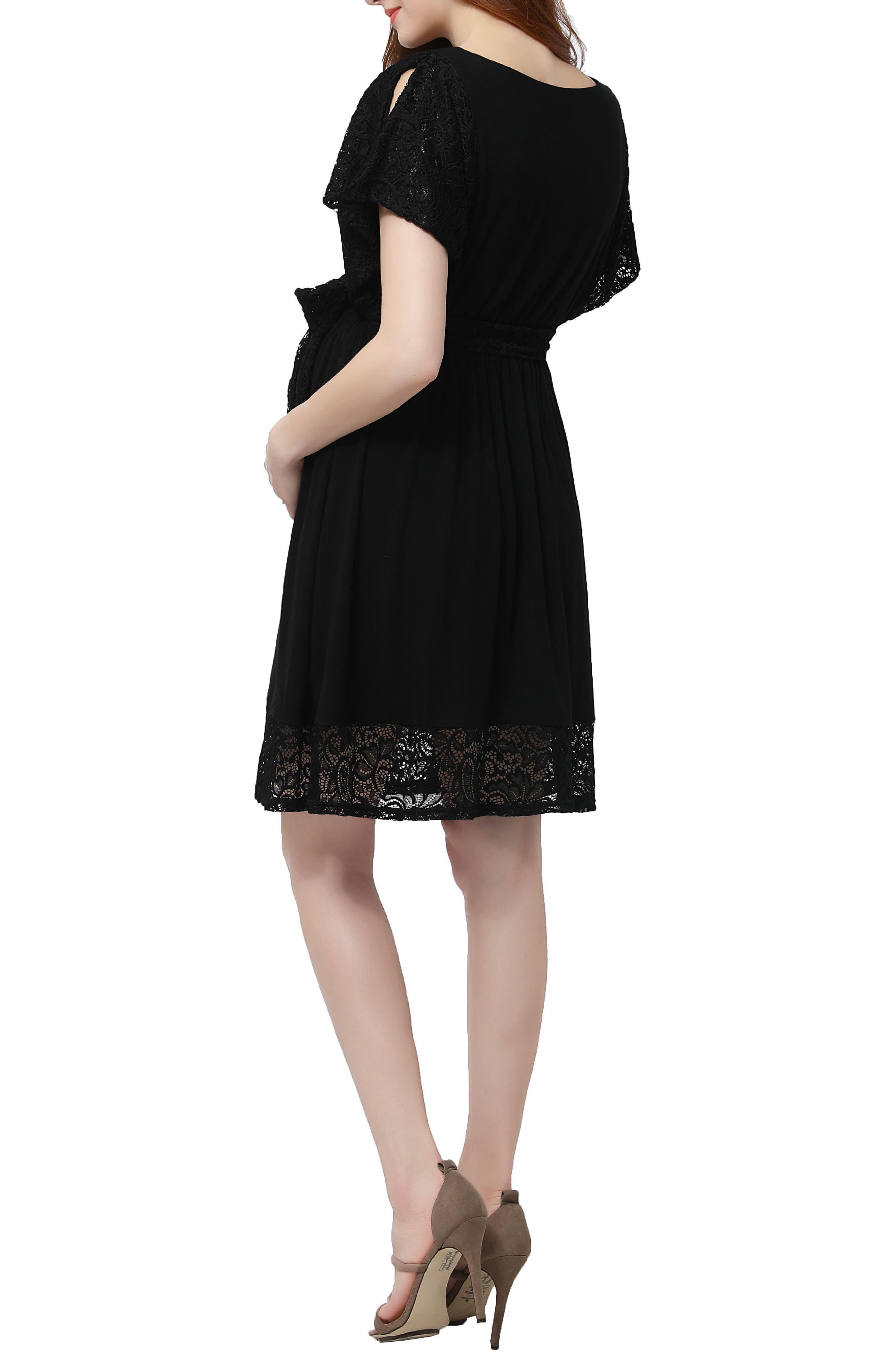 Alternate Image 3  - Kimi and Kai Alison Lace Trim Maternity Dress