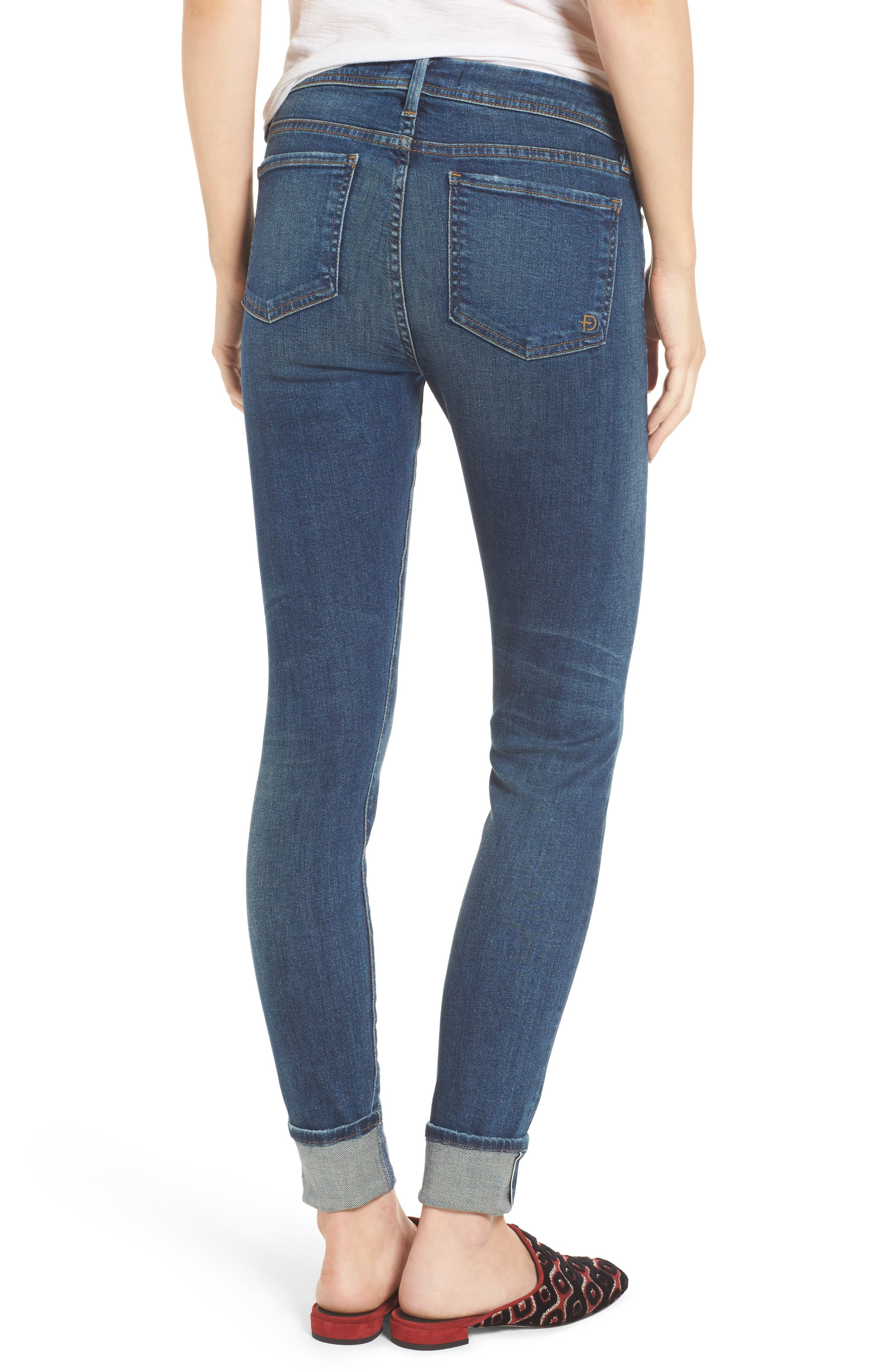 Belvedere Crop Skinny Jeans,                             Alternate thumbnail 2, color,                             8 Year Aged