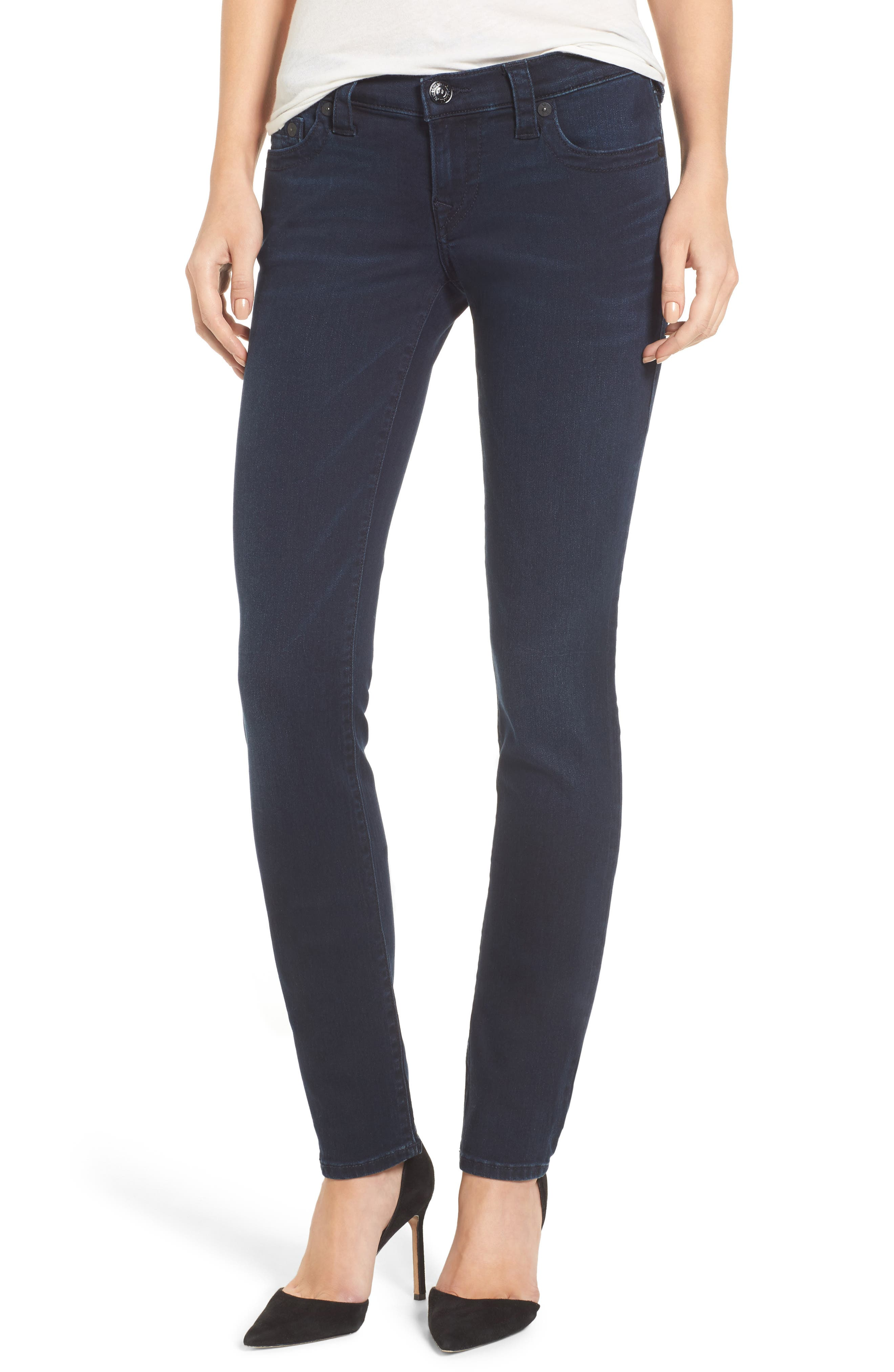 Main Image - True Religion Brand Jeans Stella Low Rise Skinny Jeans (Mystic Blues)