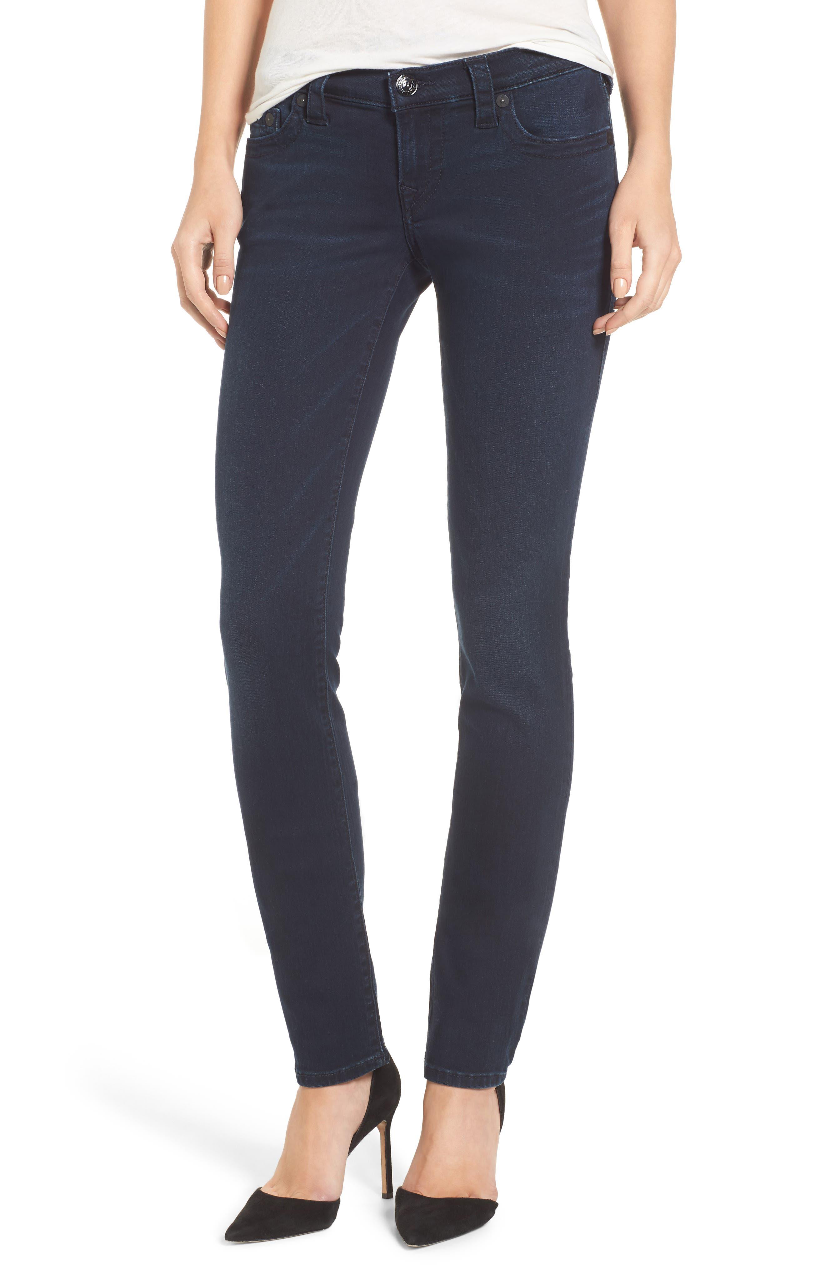 True Religion Brand Jeans Stella Low Rise Skinny Jeans (Mystic Blues)