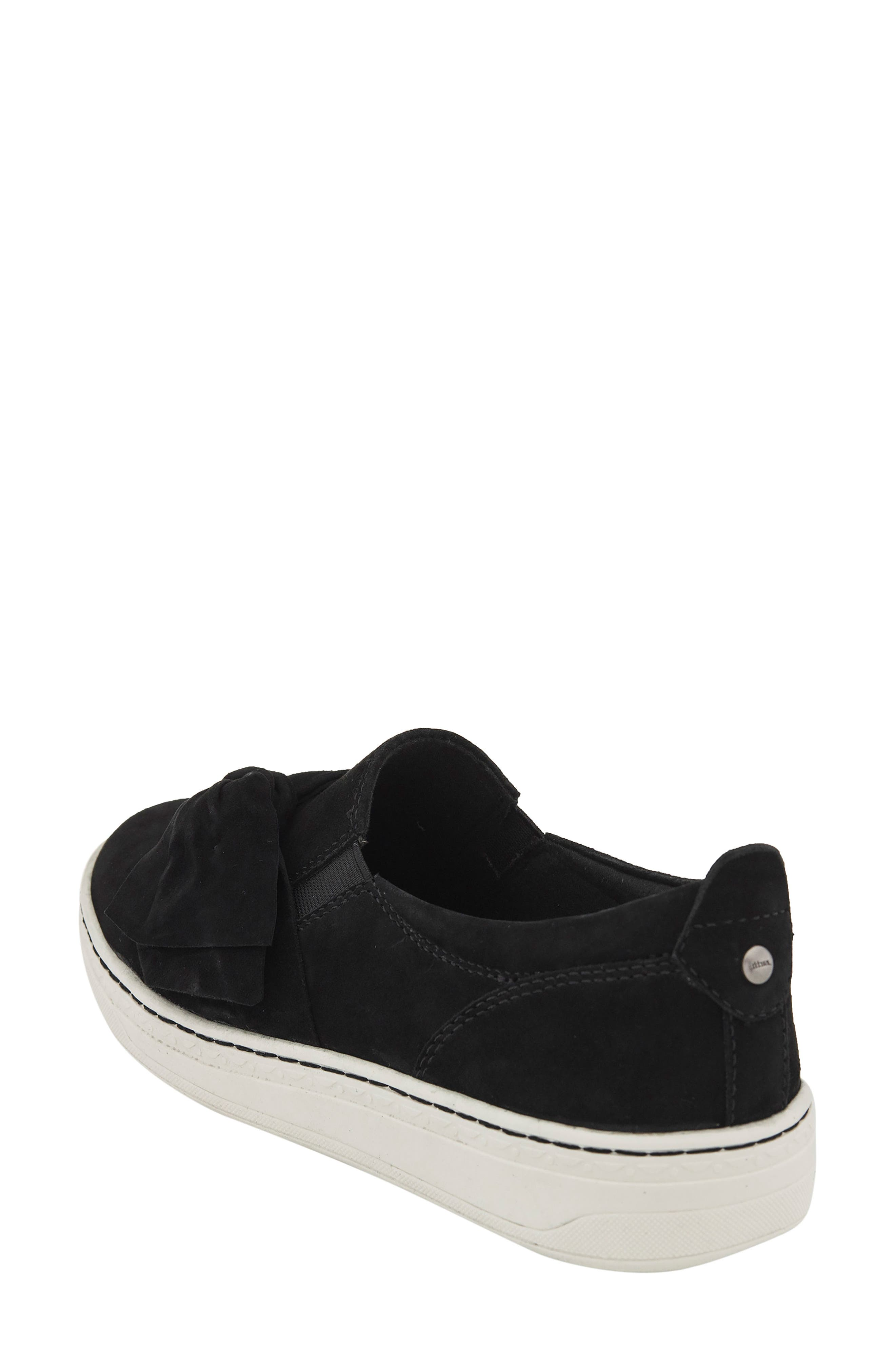Zoey Slip-On,                             Alternate thumbnail 2, color,                             Black Suede Fabric