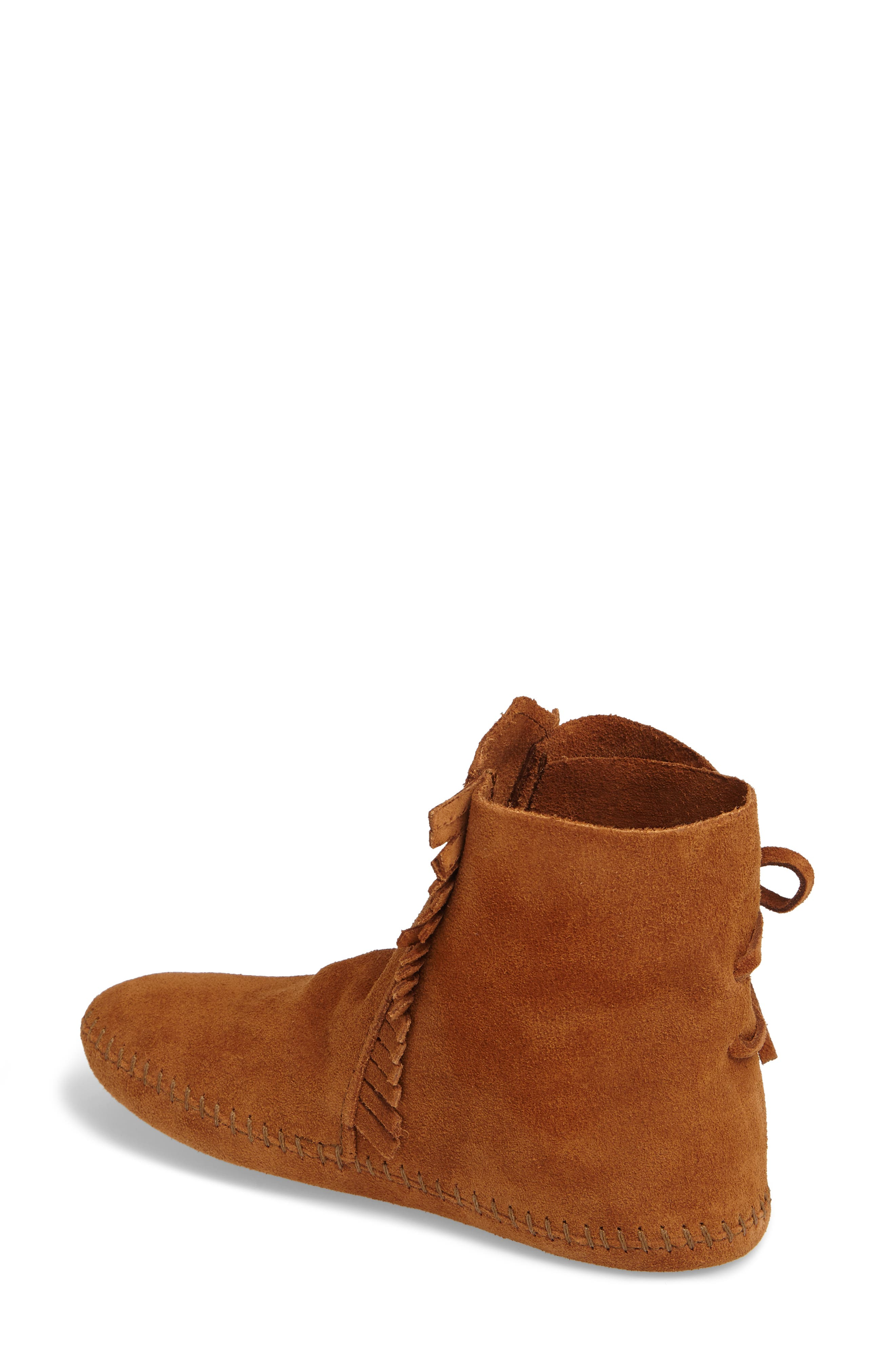 Two-Button Softsole Bootie,                             Alternate thumbnail 2, color,                             Brown