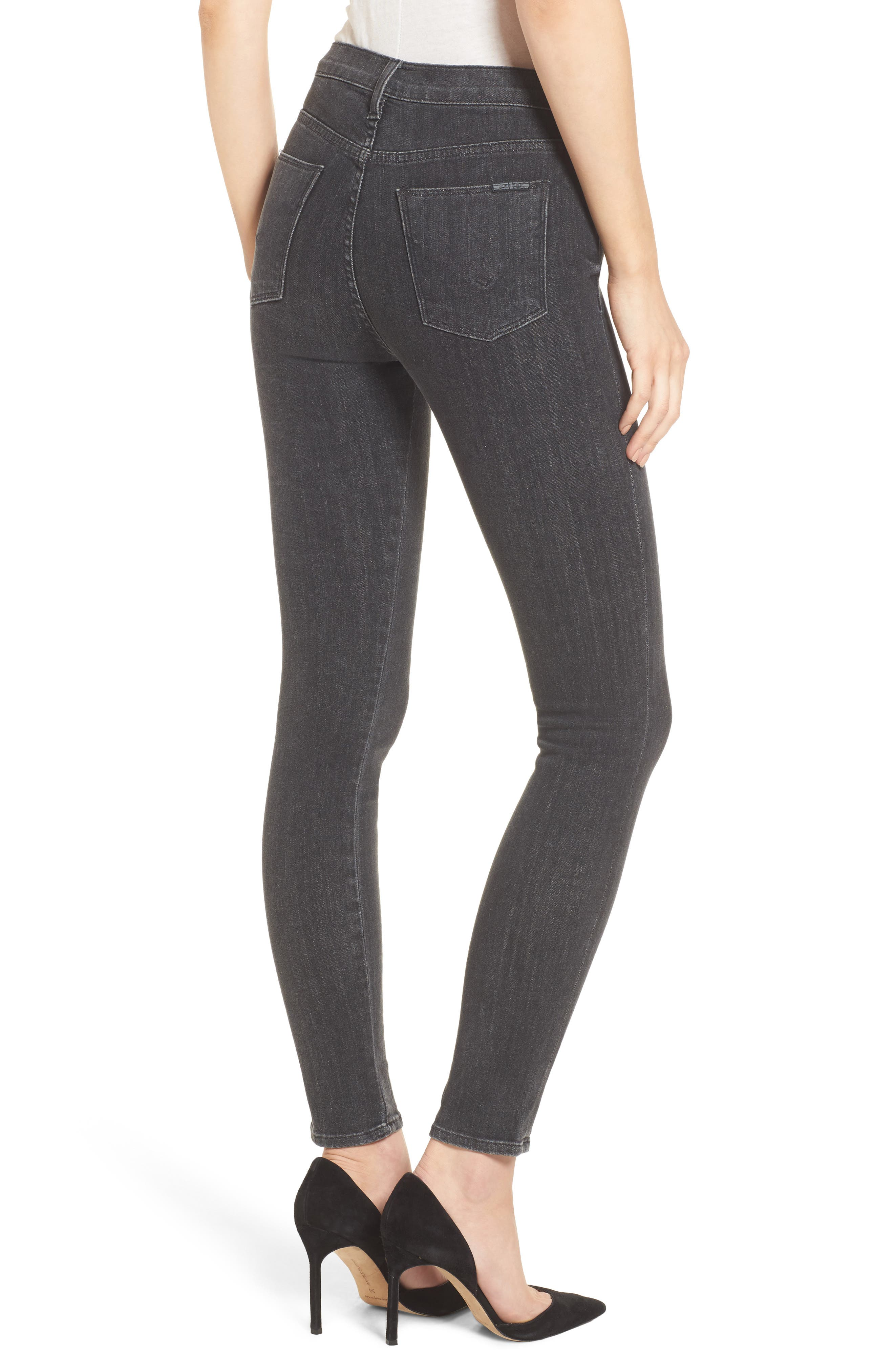 Alternate Image 2  - Hudson Jeans Bullocks High Waist Lace-Up Skinny Jeans (Disarm)