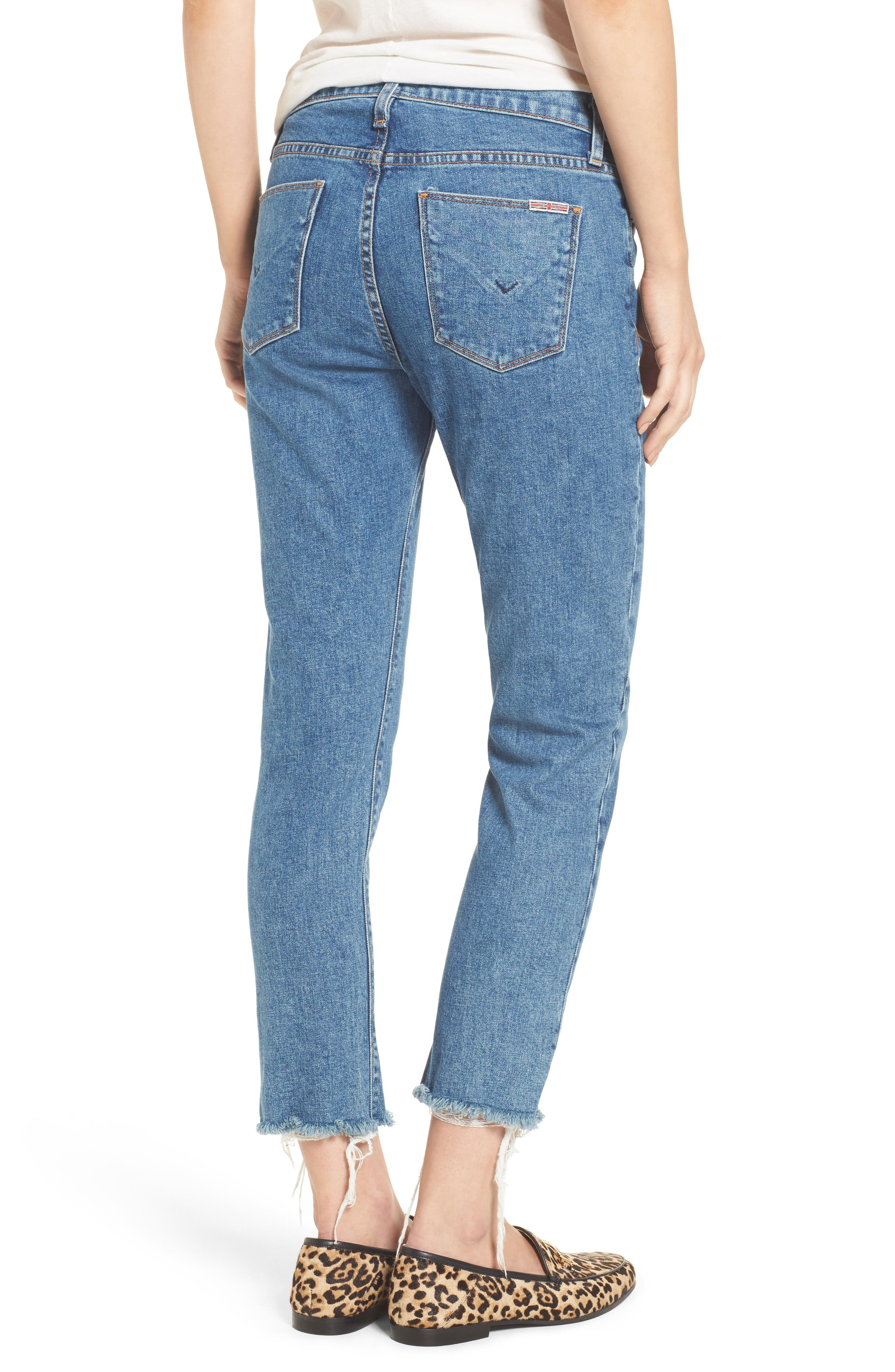 Alternate Image 2  - Hudson Jeans Riley Crop Relaxed Straight Leg Jeans (Continuum)