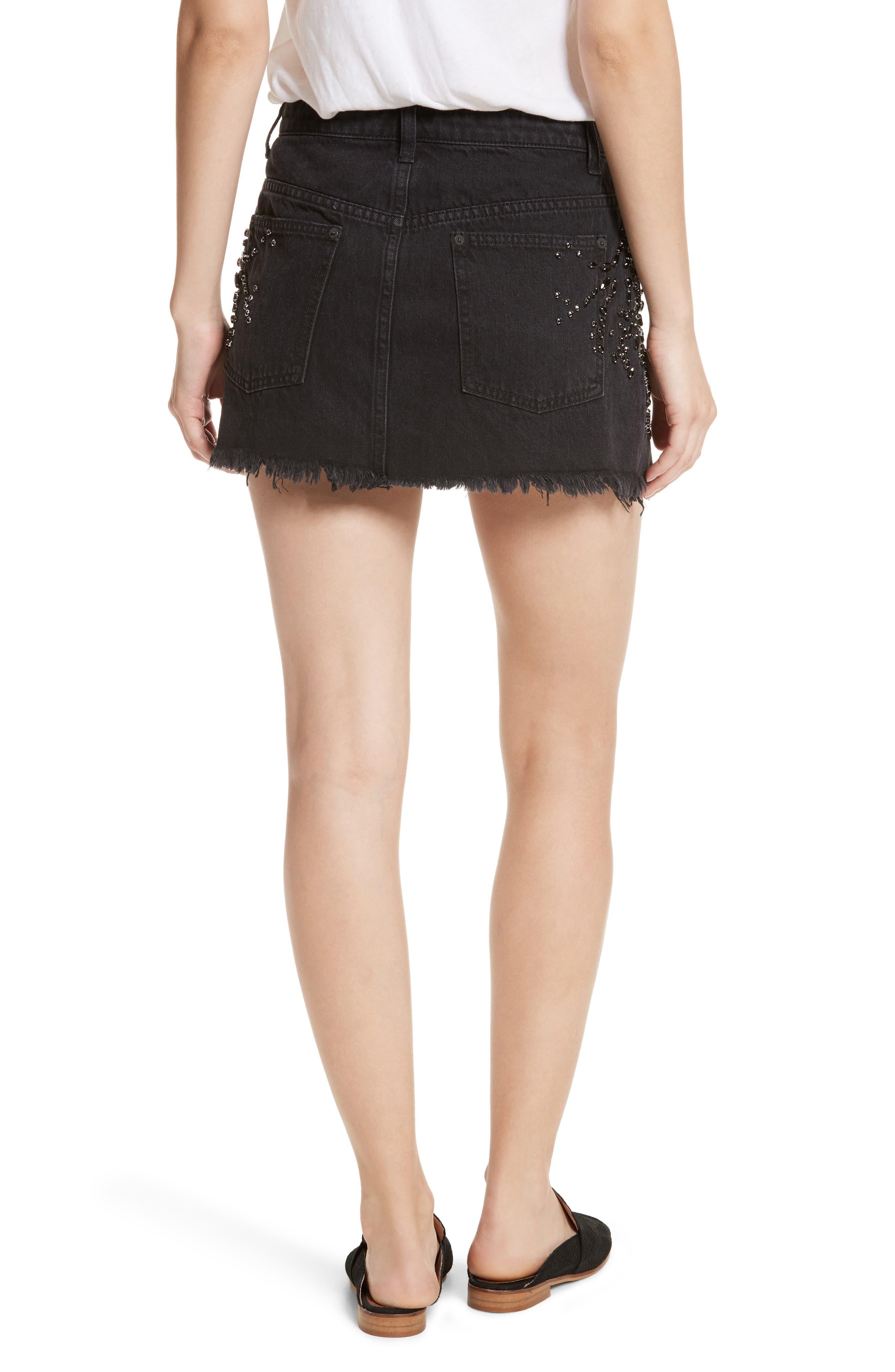 Alternate Image 2  - Free People Shine Bright Shine Far Beaded Miniskirt