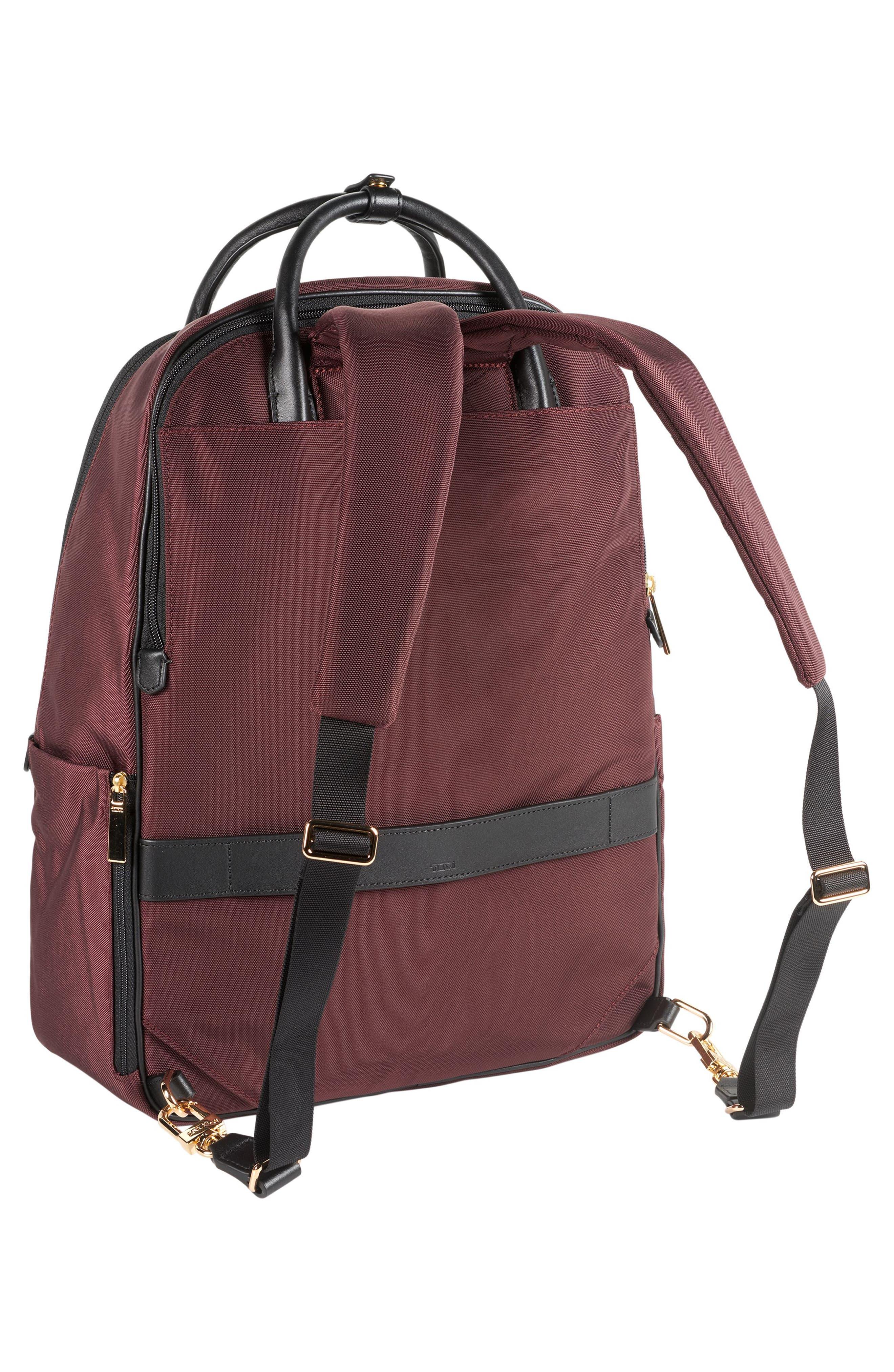 Larkin - Paterson Convertible Nylon Backpack,                             Alternate thumbnail 3, color,                             Bordeaux