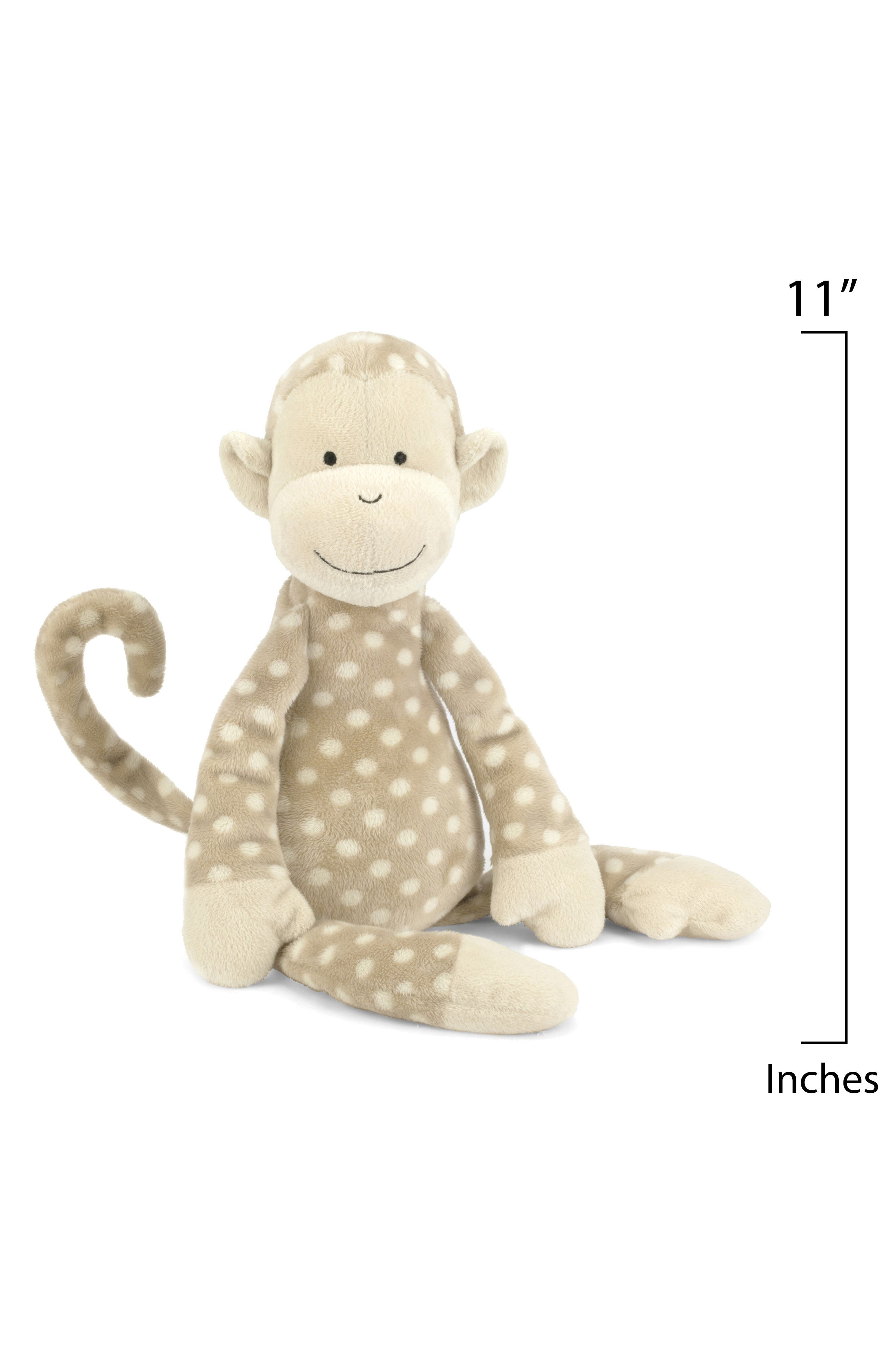 'Monty Monkey' Stuffed Animal,                             Alternate thumbnail 2, color,                             Brown/ Cream