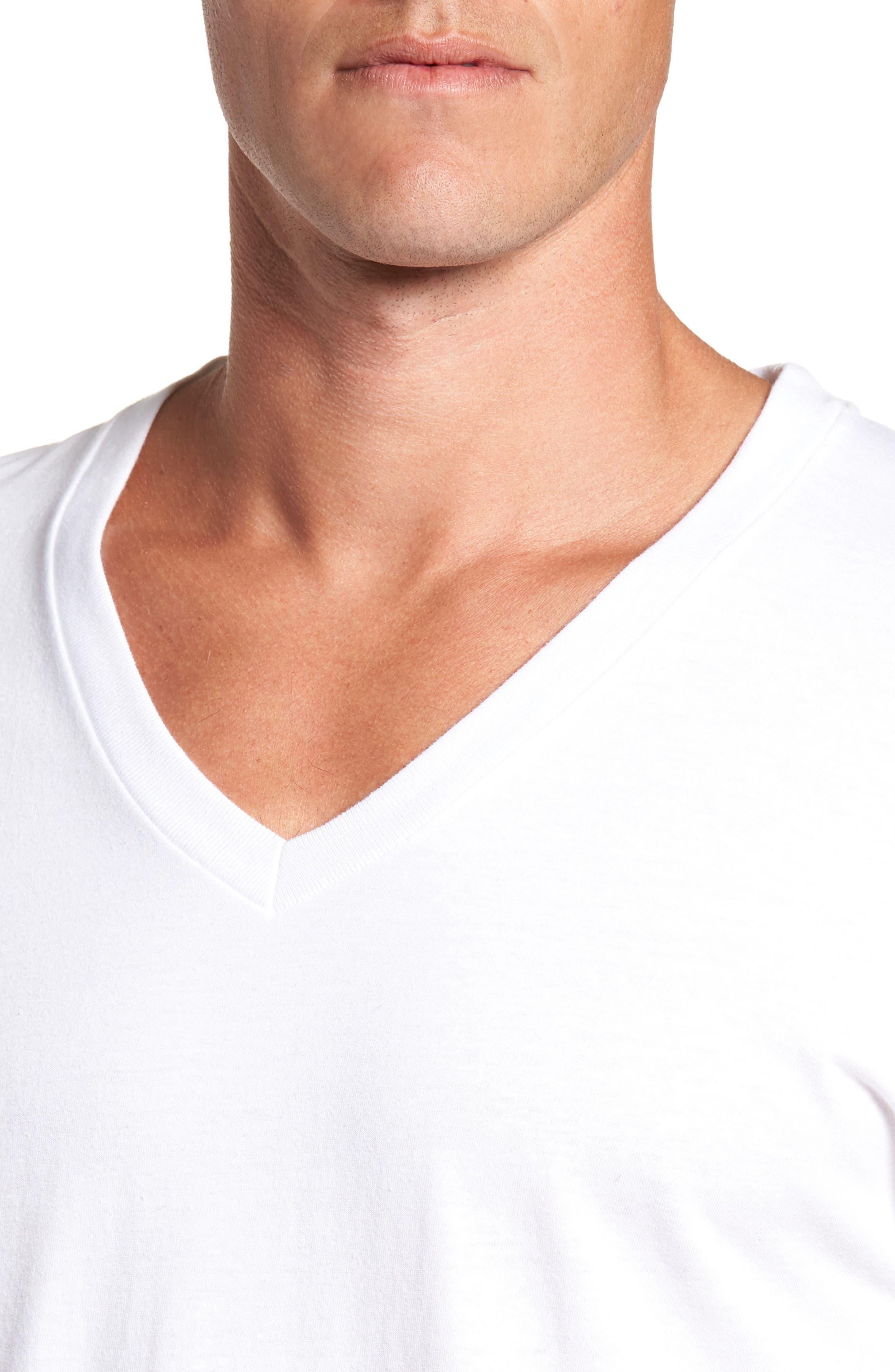 Alternate Image 5  - Hanes Luxury Essentials 3-Pack V-Neck T-Shirt