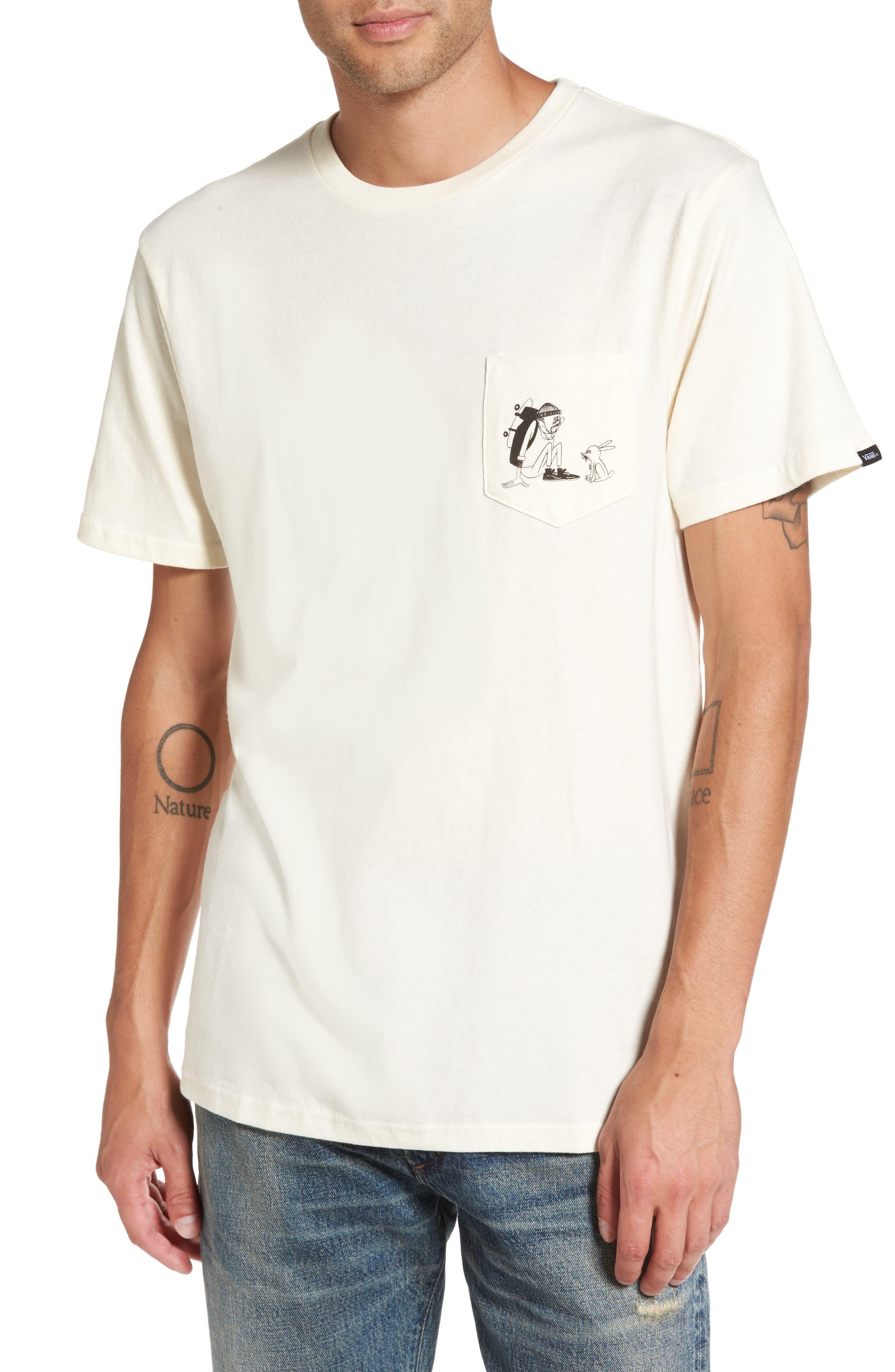x Yusuke Hanai Outdoors Graphic Pocket T-Shirt,                         Main,                         color, Antique White