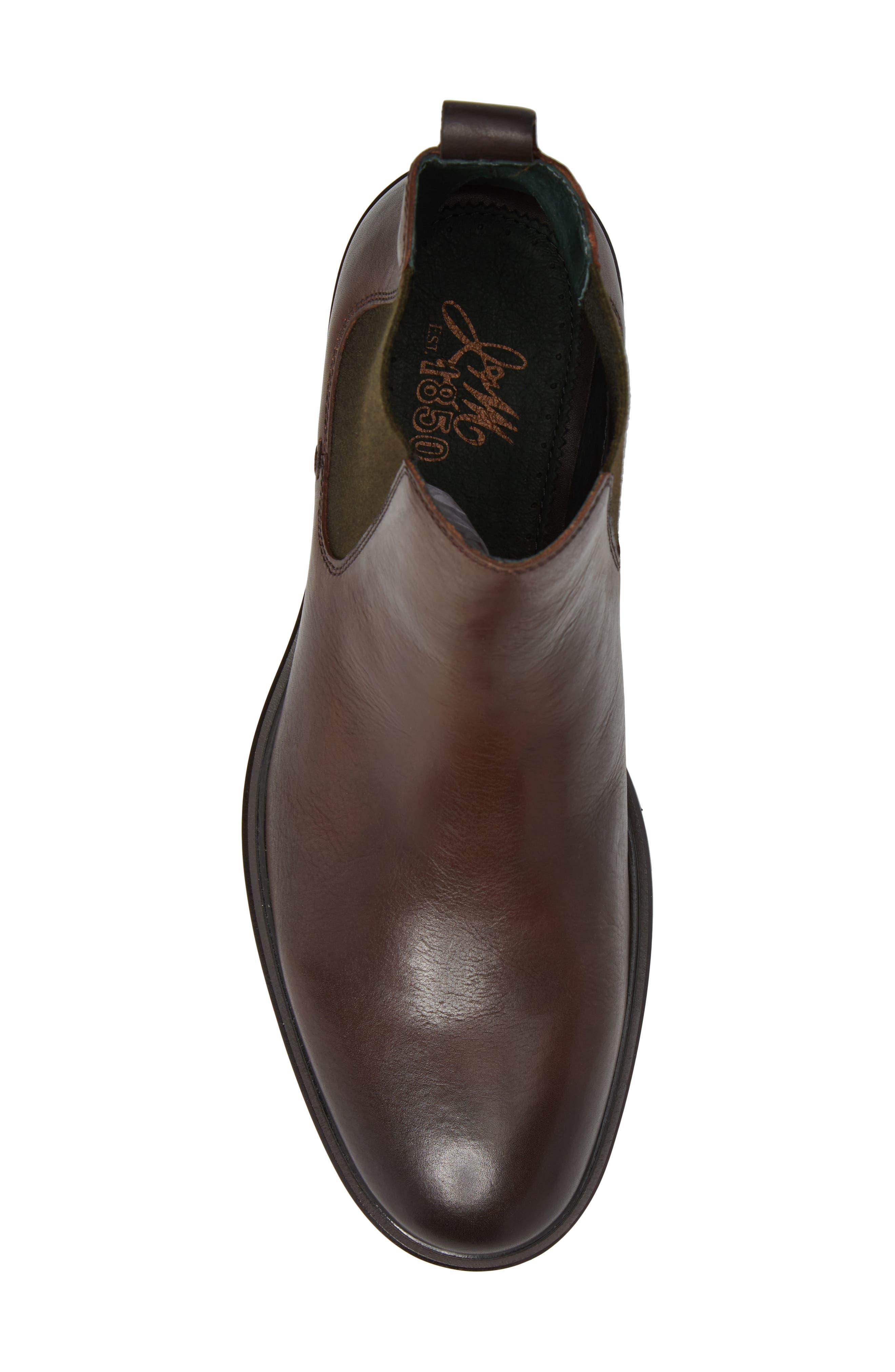 Myles Chelsea Boot,                             Alternate thumbnail 5, color,                             Mahogany Leather