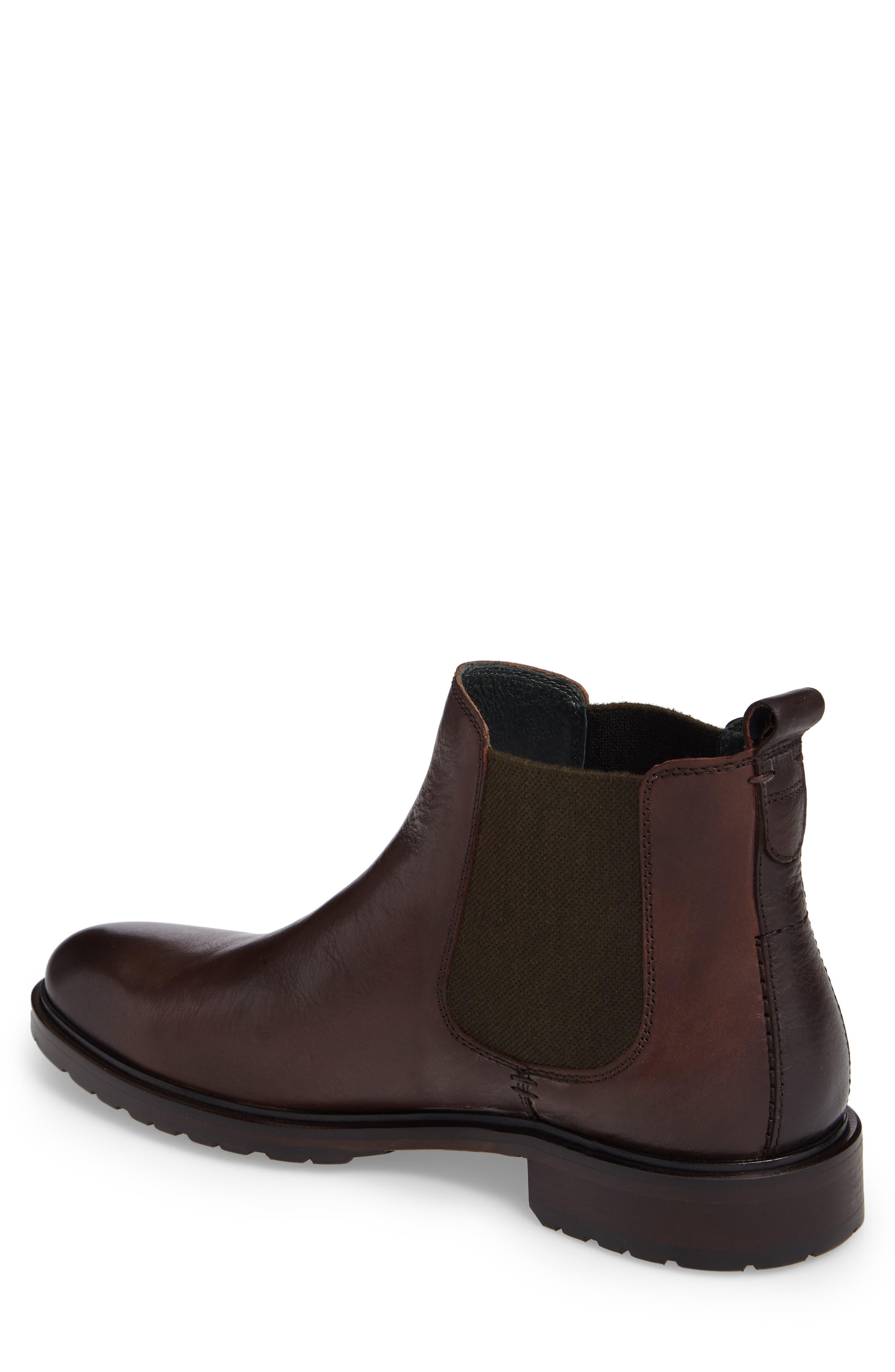 Myles Chelsea Boot,                             Alternate thumbnail 2, color,                             Mahogany Leather