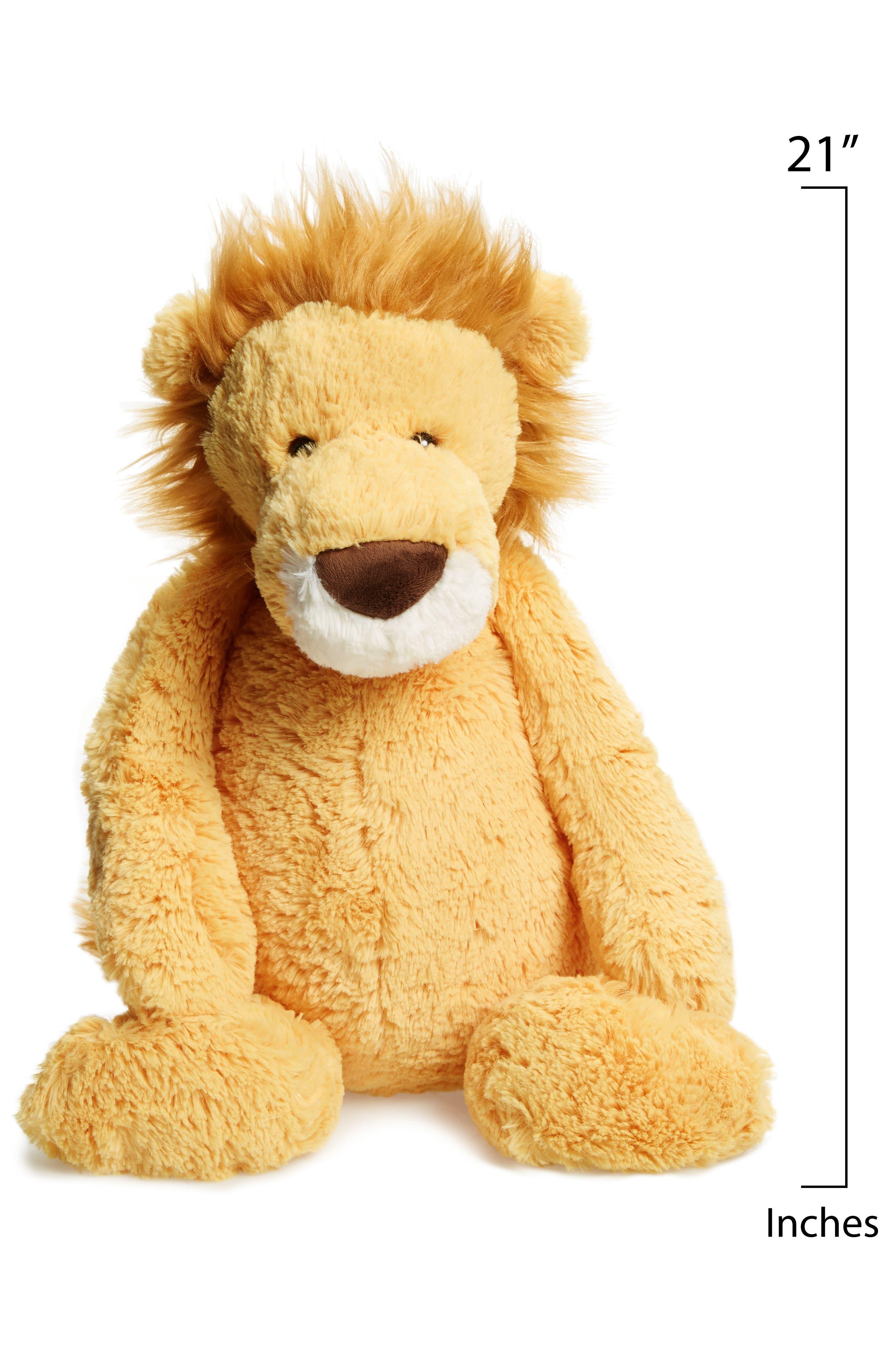 Huge Bashful Lion Stuffed Animal,                             Alternate thumbnail 2, color,                             Yellow