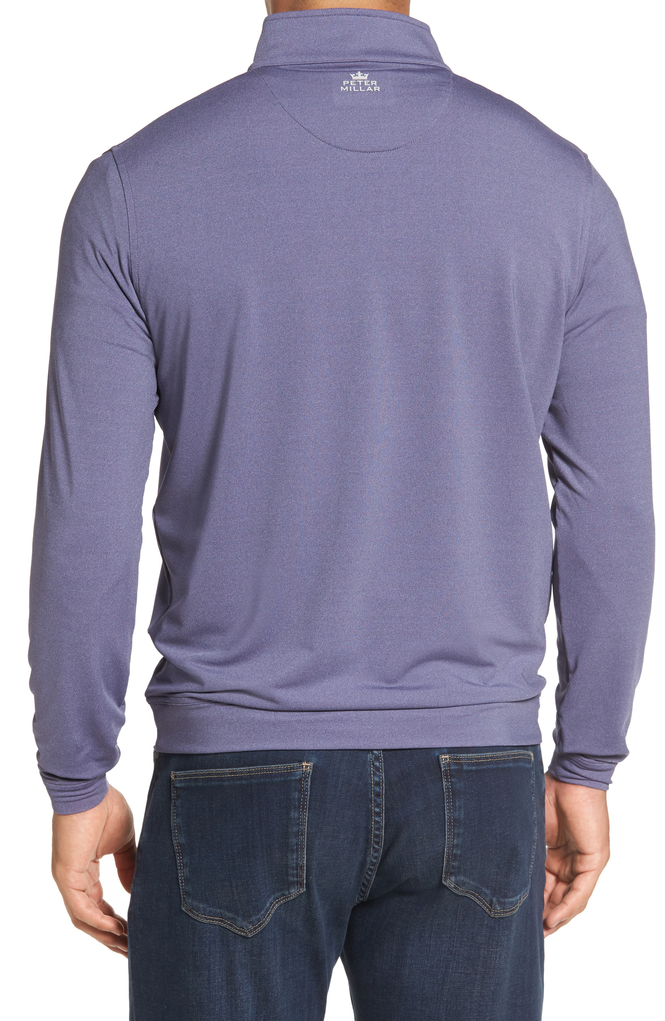 Perth Quarter Zip Stretch Pullover,                             Alternate thumbnail 2, color,                             Blackberry