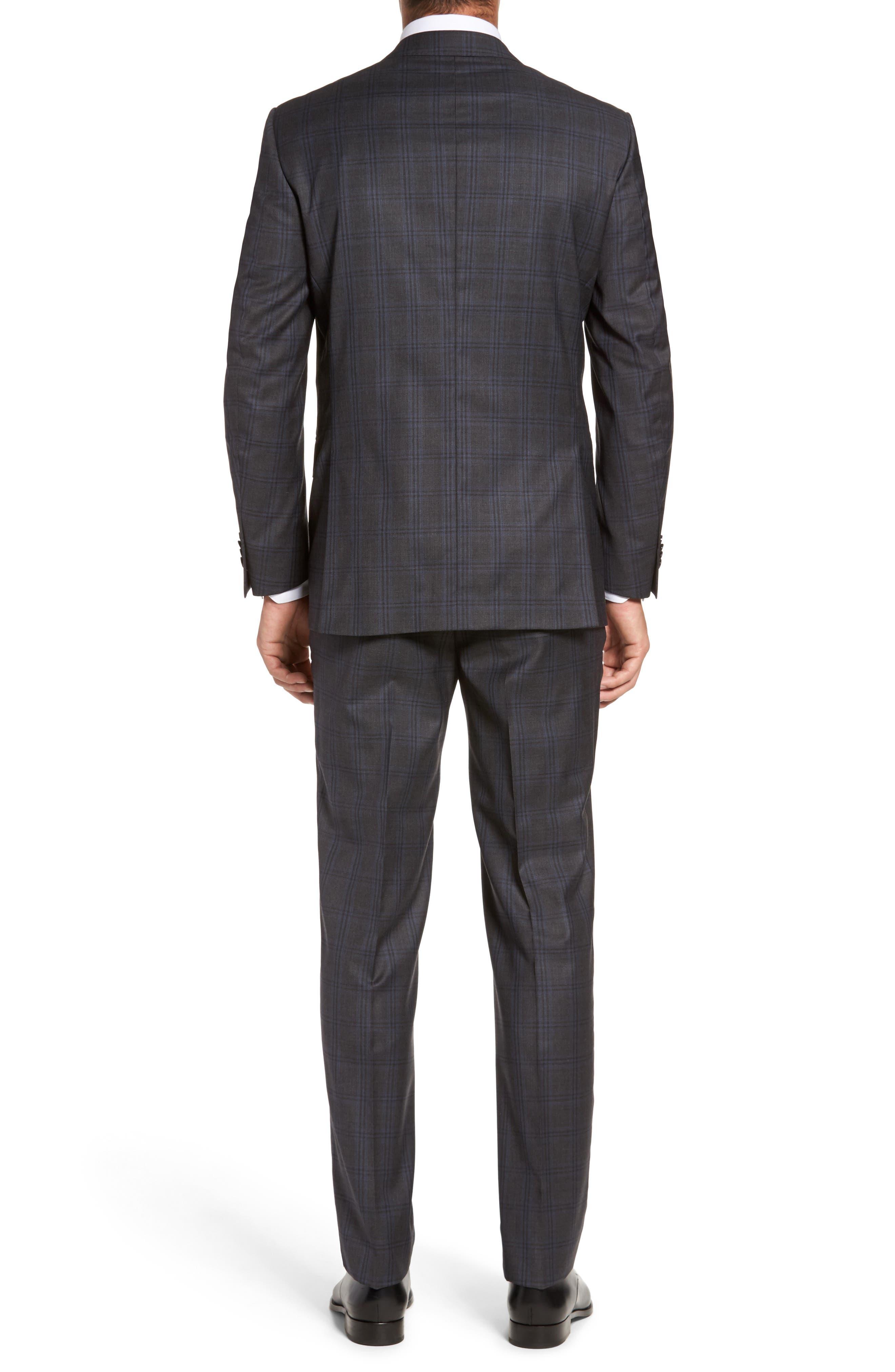 Flynn Classic Fit Plaid Wool Suit,                             Alternate thumbnail 2, color,                             Grey