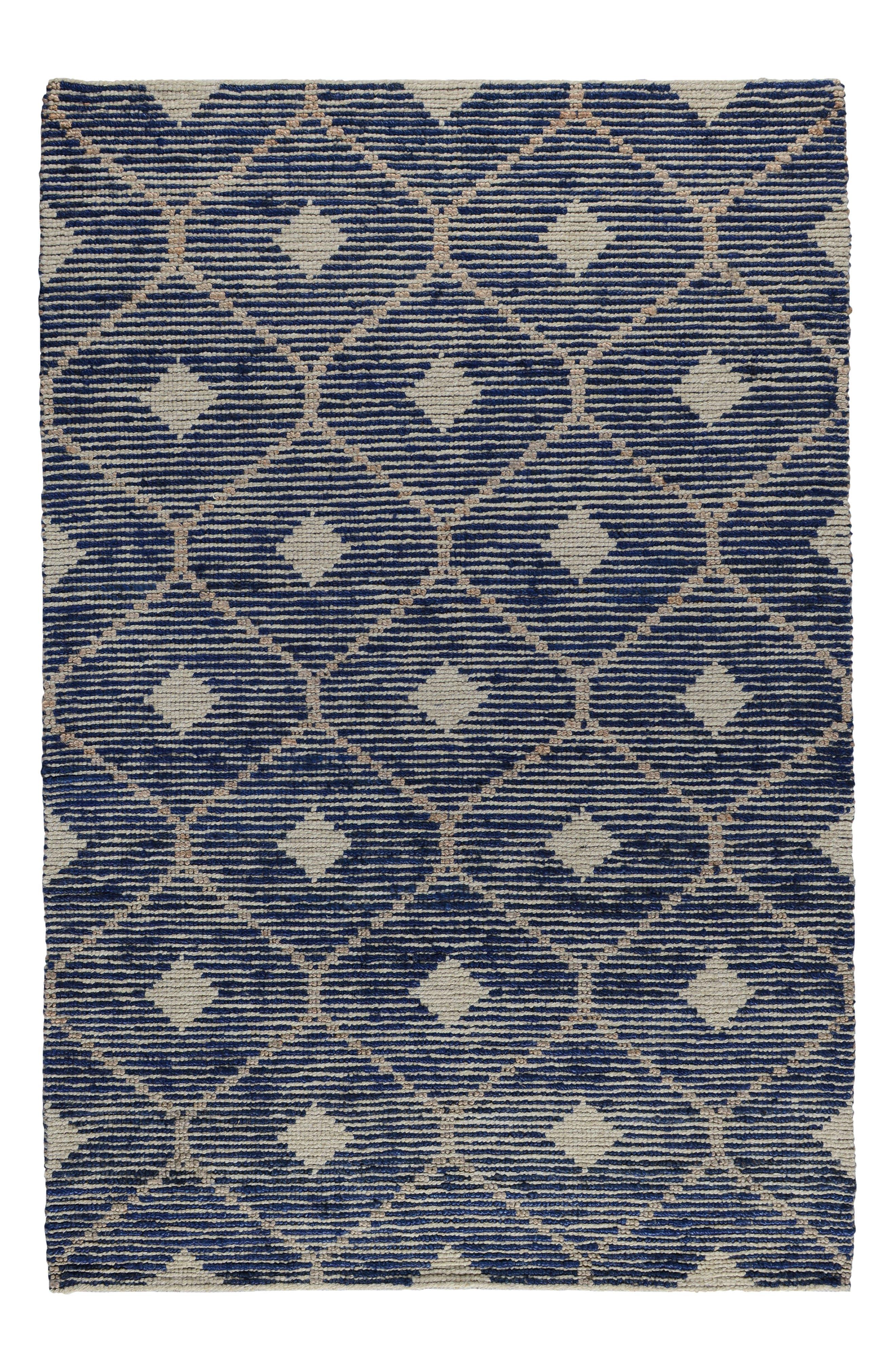 Rustica Handwoven Rug,                         Main,                         color, Indigo