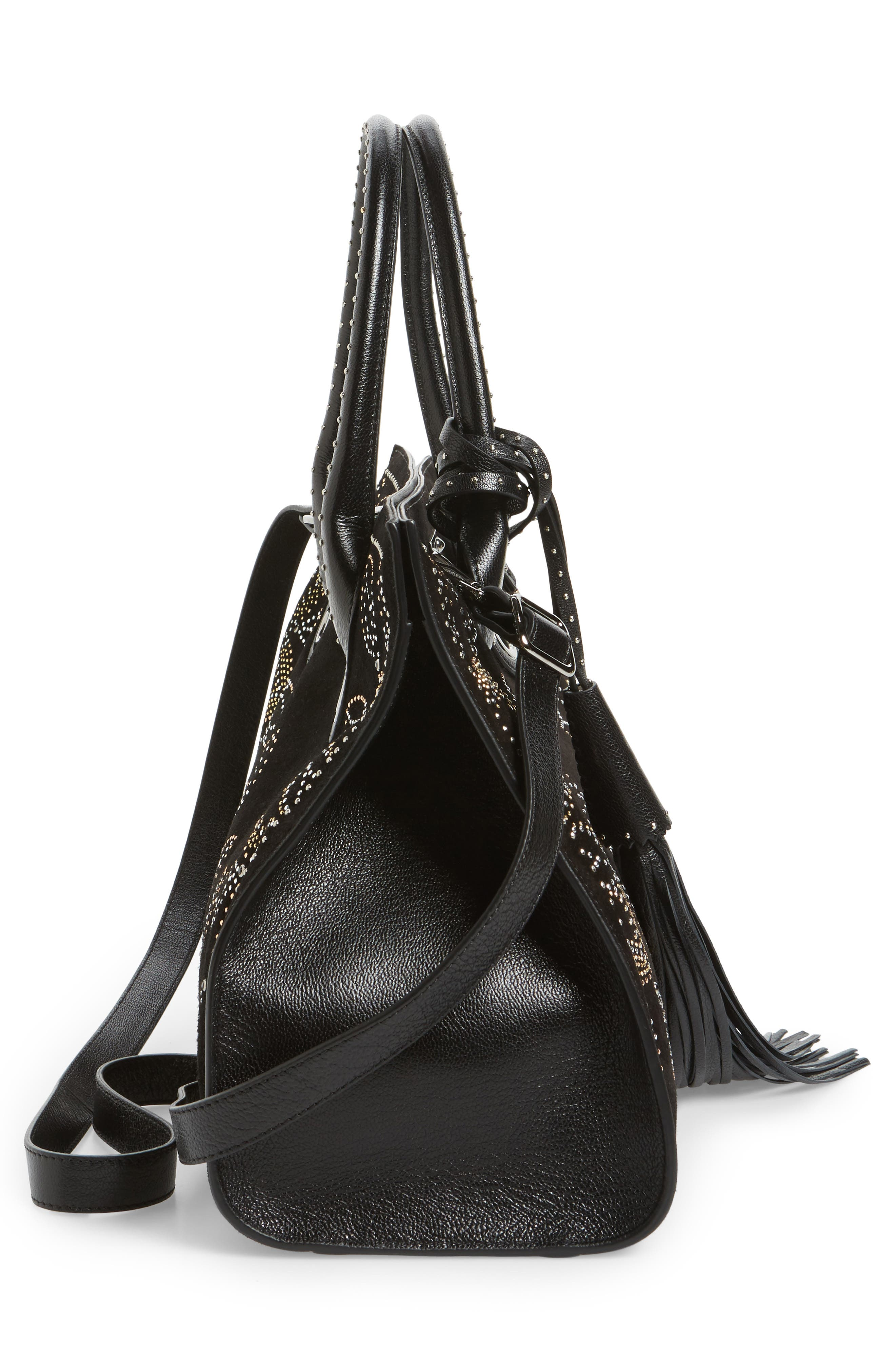 Alternate Image 4  - Jimmy Choo Riley Micro Studded Leather Tote