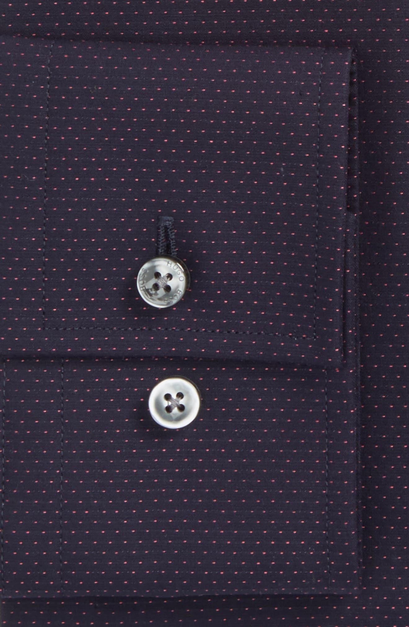 Alternate Image 2  - BOSS Jenno Slim Fit Dot Dress Shirt