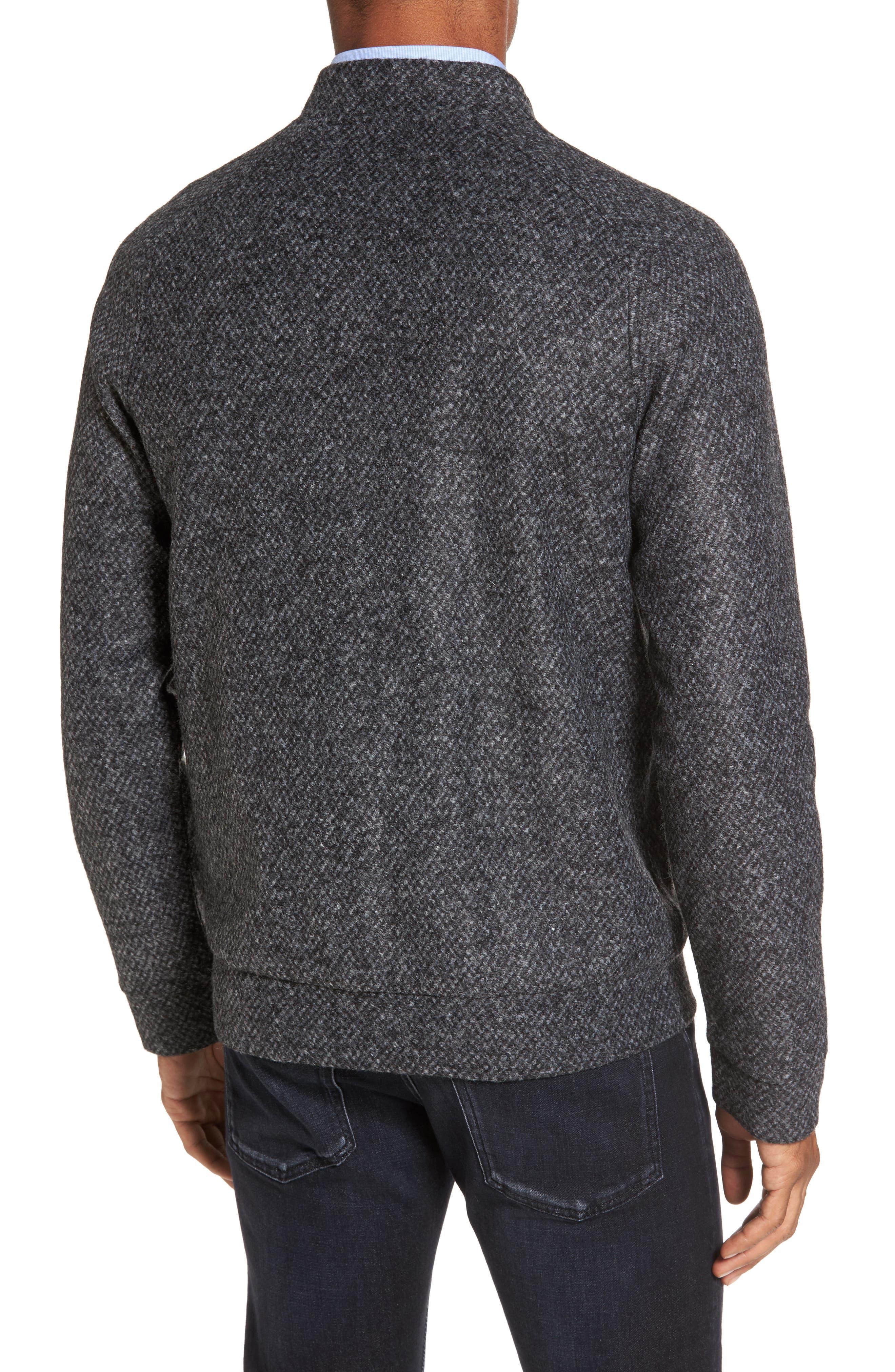Salea Slim Fit Bomber Jacket,                             Alternate thumbnail 2, color,                             Grey