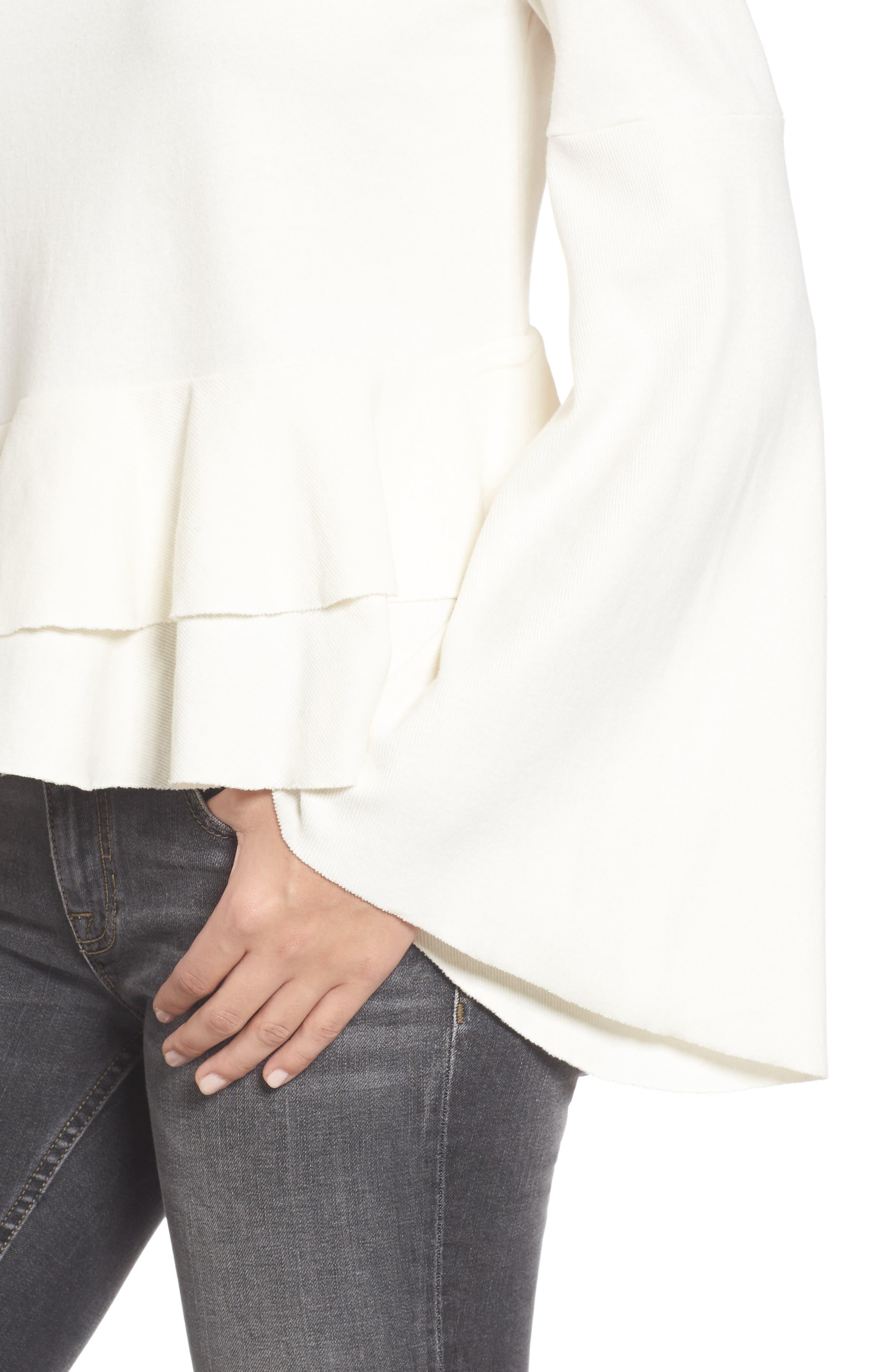 Alternate Image 4  - BP. Ruffle Hem Bell Sleeve Top