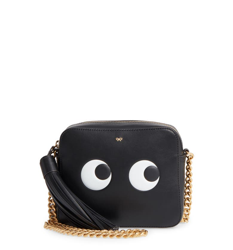 Anya Hindmarch Eyes Camera Leather Crossbody Bag