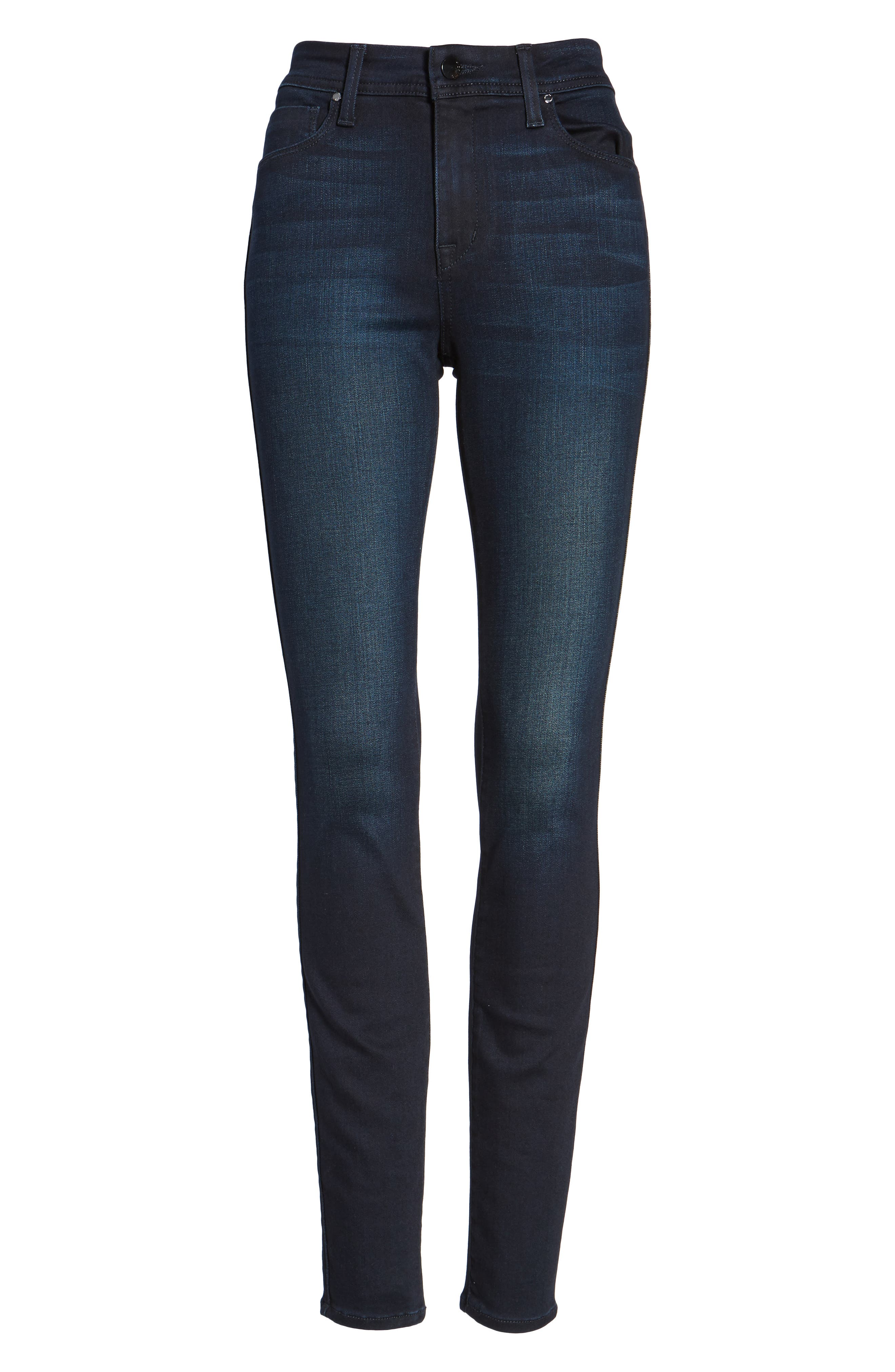 Fidelity Jeans Belvedere Skinny Jeans,                             Alternate thumbnail 6, color,                             Sapphire