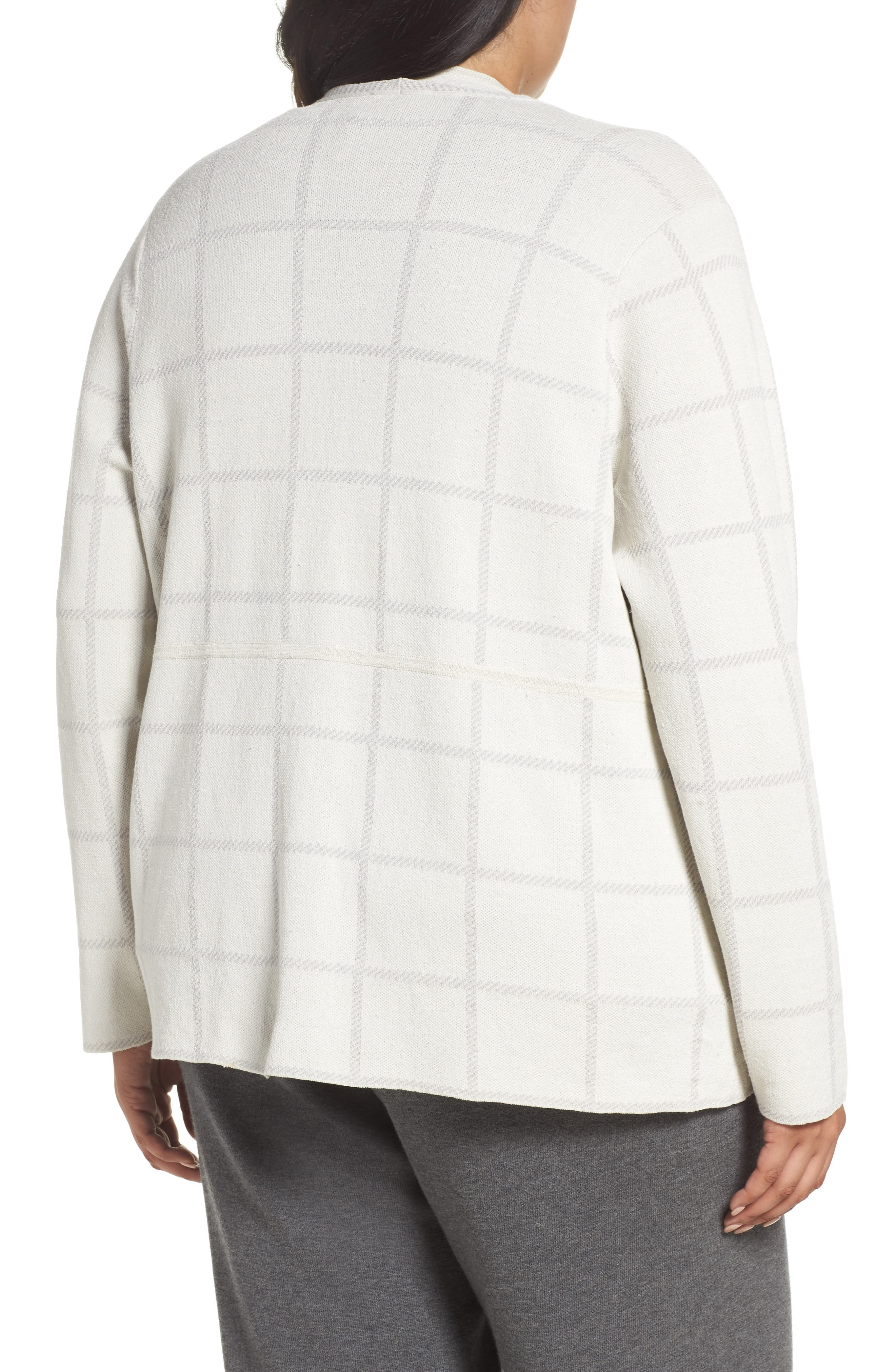 Alternate Image 2  - Eileen Fisher Angle Front Cardigan (Plus Size)