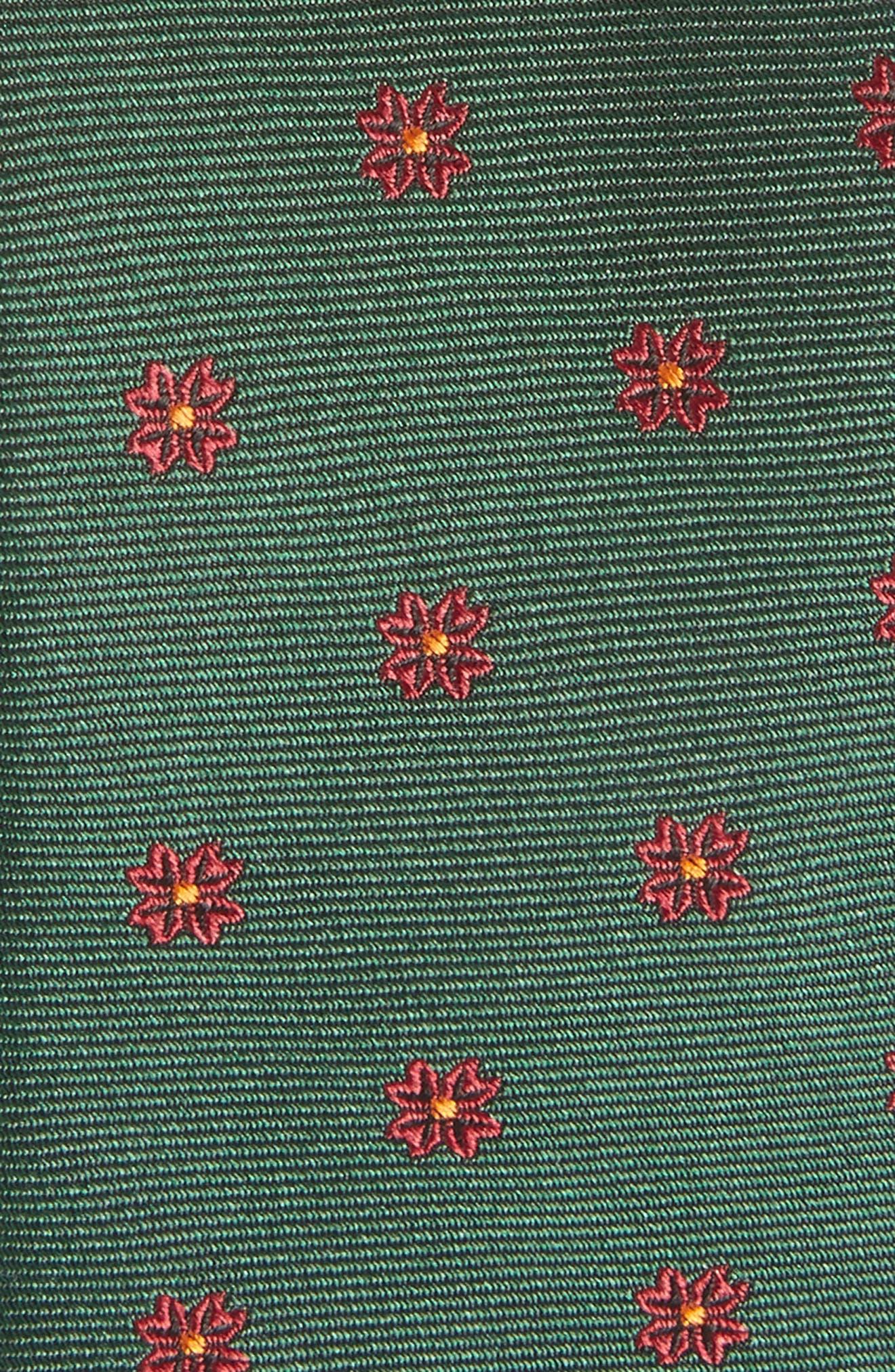 Floral Span Medallion Silk Tie,                             Alternate thumbnail 2, color,                             Hunter Green