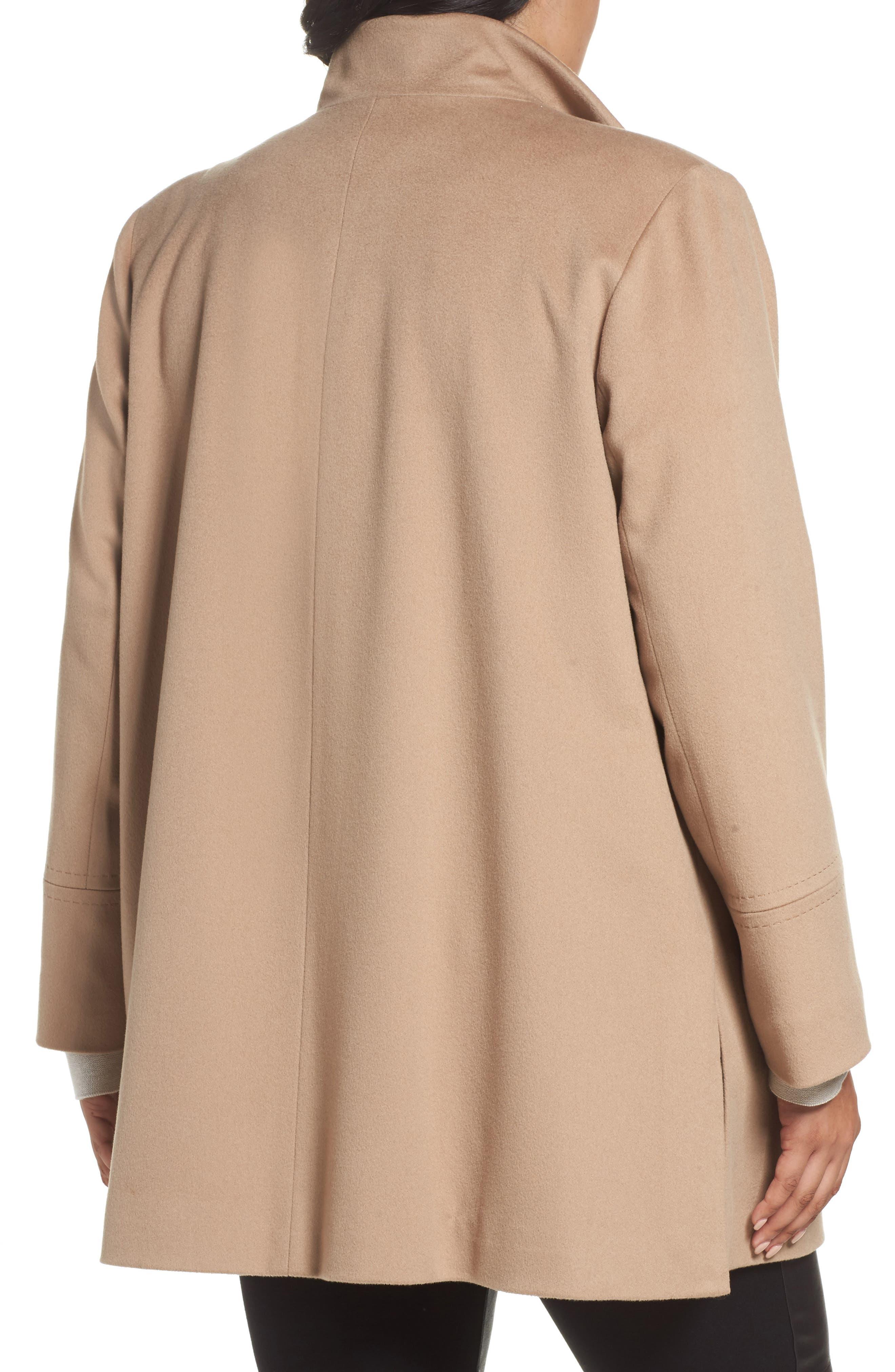 Alternate Image 2  - Fleurette Wool Car Coat (Plus Size) (Nordstrom Exclusive)