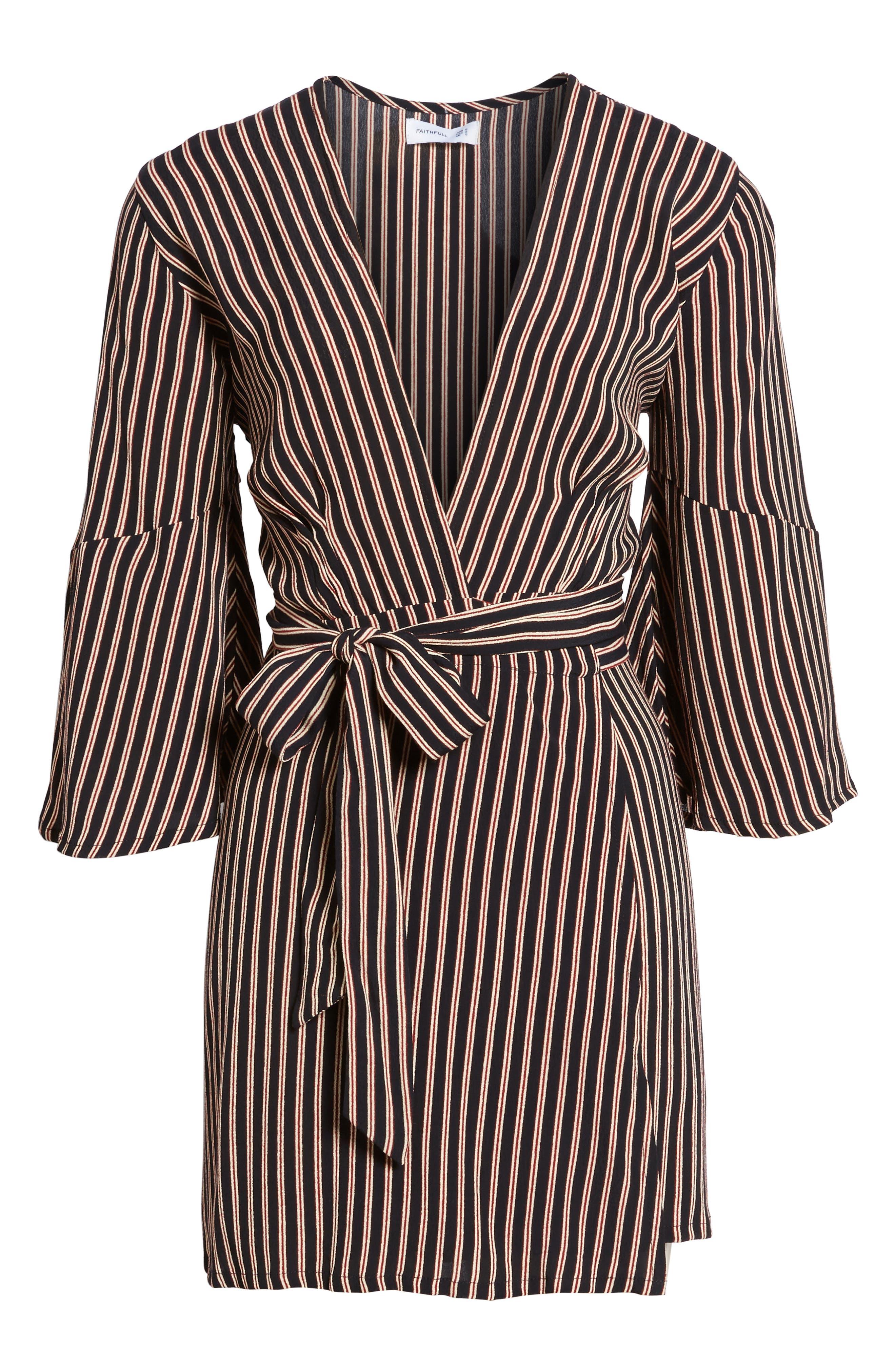 Alternate Image 7  - FAITHFULL THE BRAND Corelli Plunge Wrap Dress
