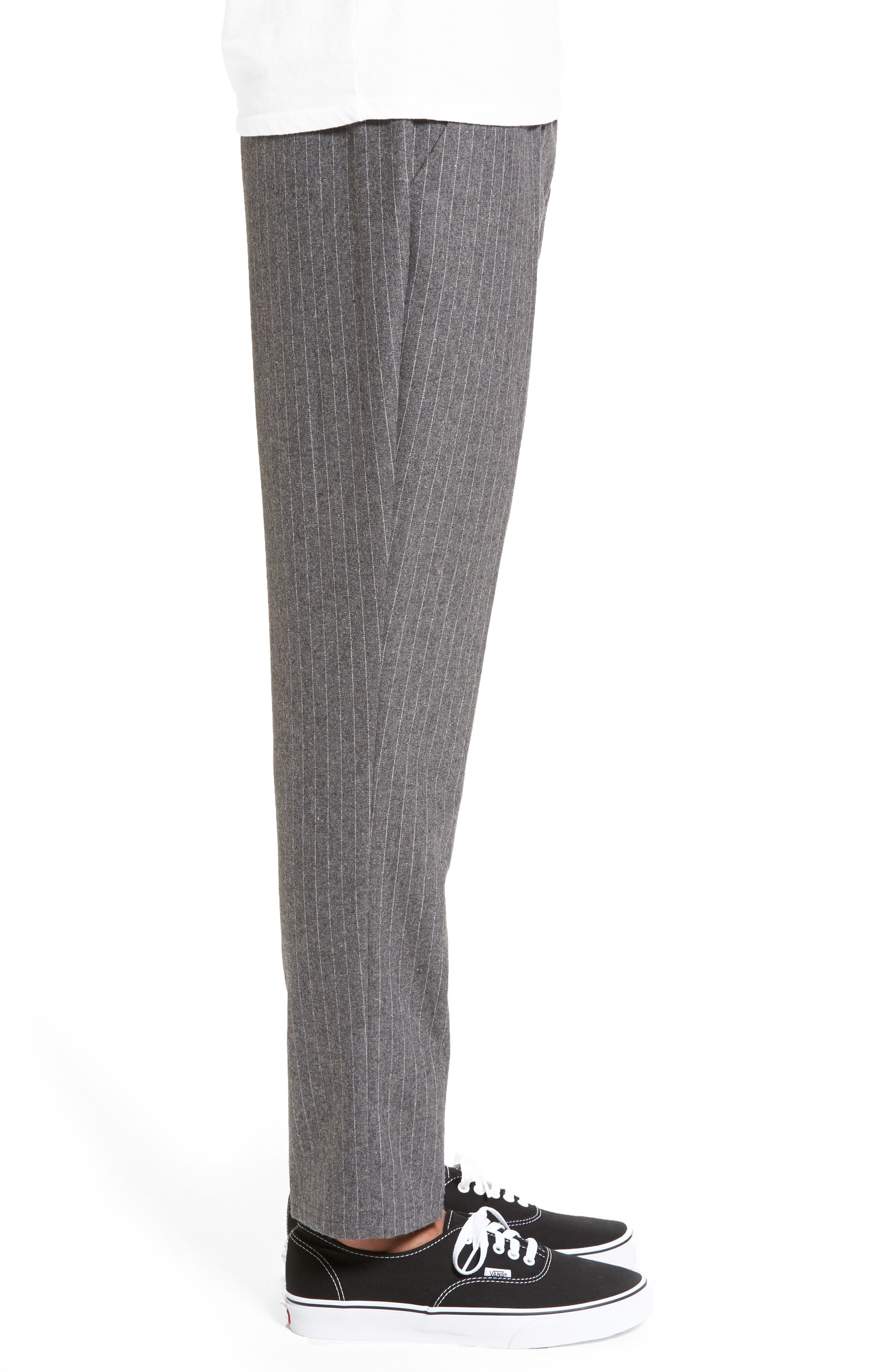 Pennyworth Pants,                             Alternate thumbnail 3, color,                             Charcoal Pinstripe