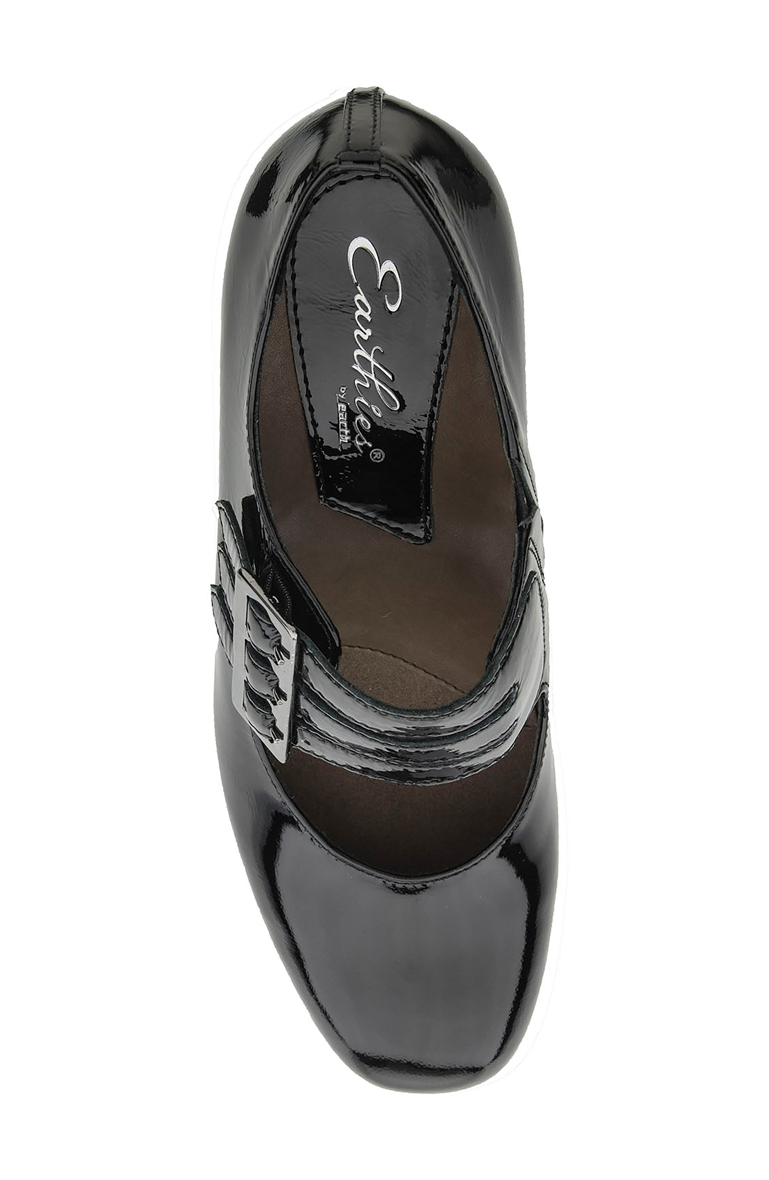 Fortuna Mary Jane Pump,                             Alternate thumbnail 5, color,                             Black Patent Leather