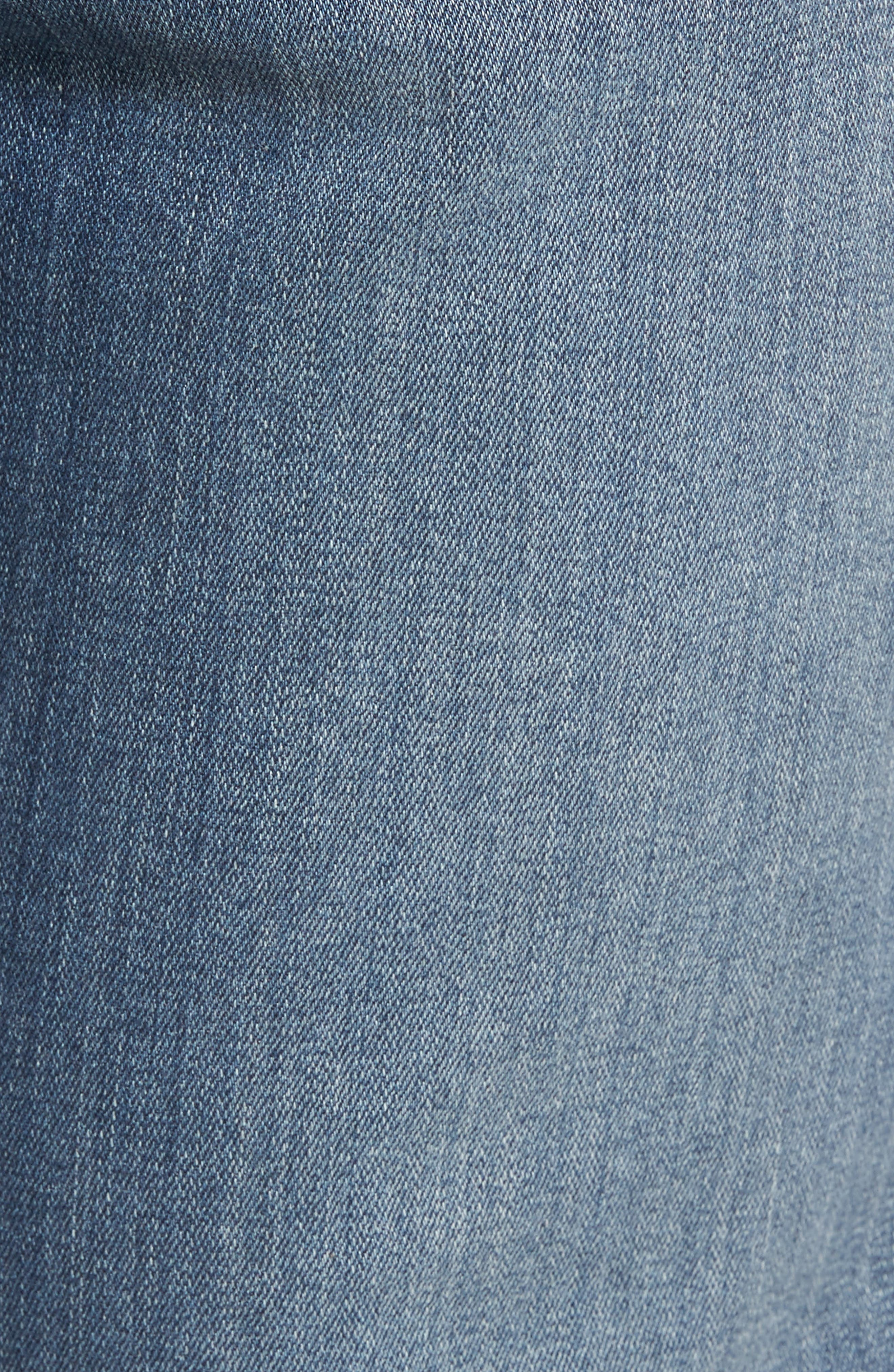 Alternate Image 5  - PAIGE Normandie Straight Fit Jeans (Almont)