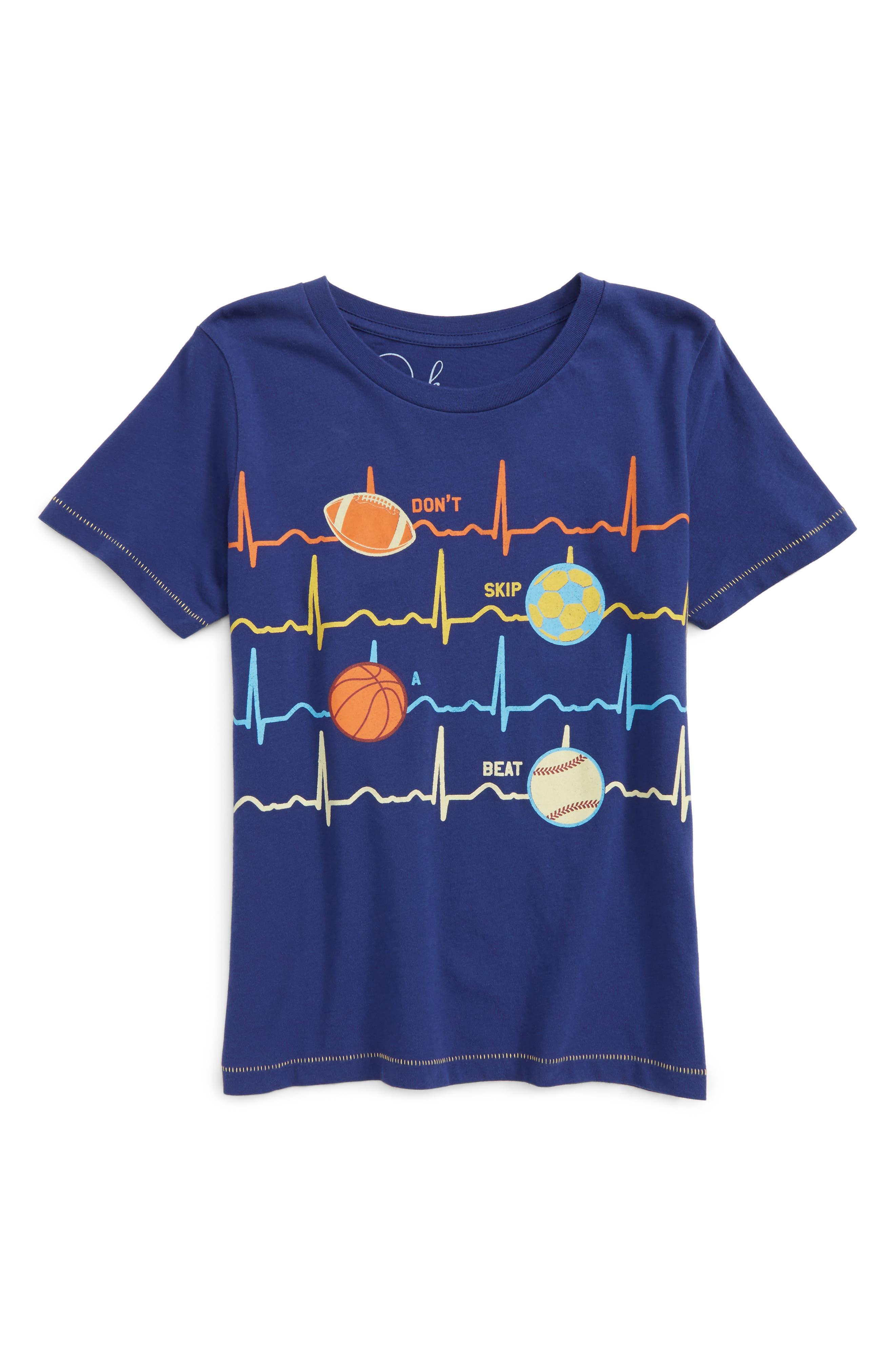 Peek Heartbeat T-Shirt (Toddler Boys, Little Boys & Big Boys)