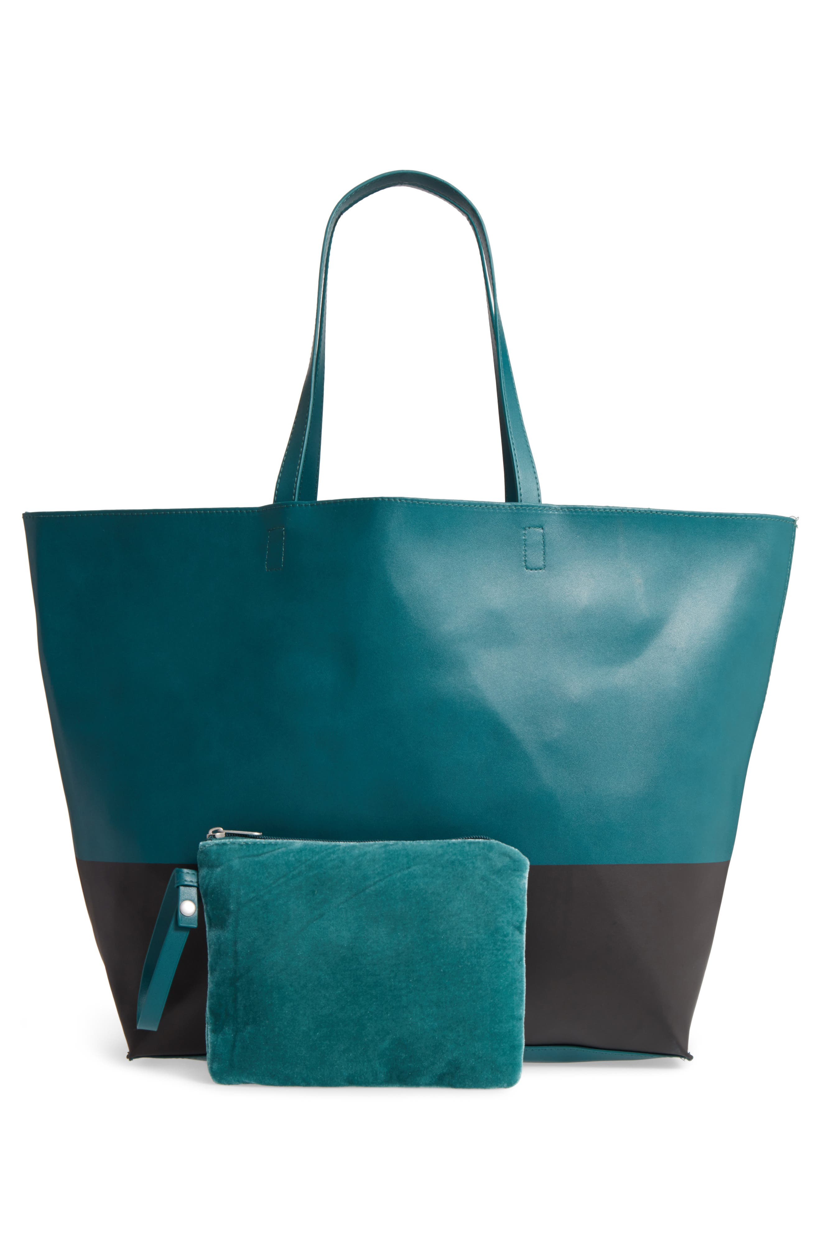 Alternate Image 2  - BP. Colorblock Faux Leather Tote