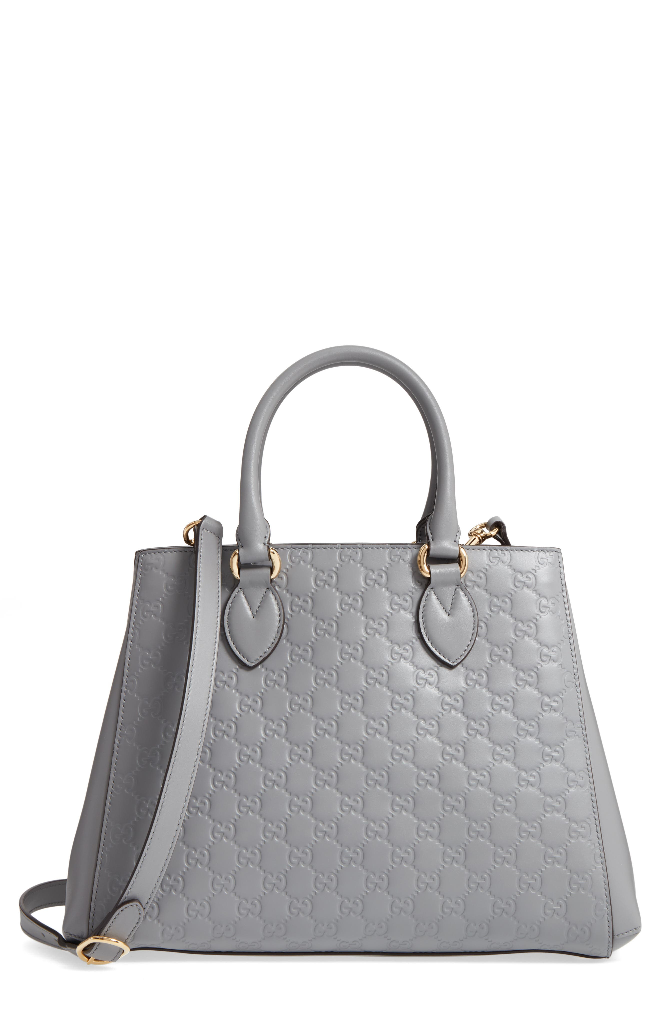 GUCCI Large Top Handle Signature Soft Leather Tote