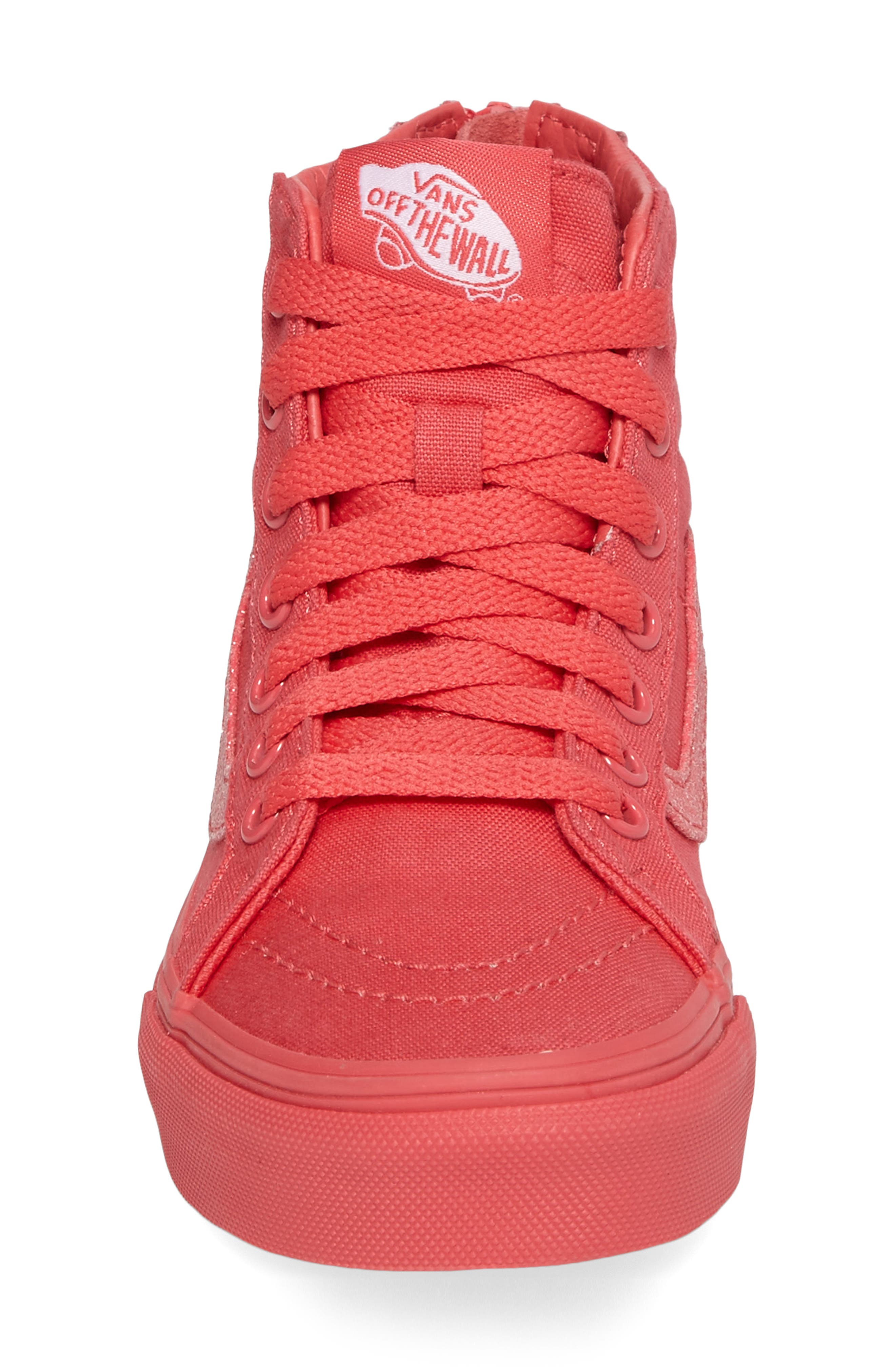 Alternate Image 4  - Vans SK8-Hi Zip Sneaker (Baby, Walker, Toddler, Little Kid & Big Kid)
