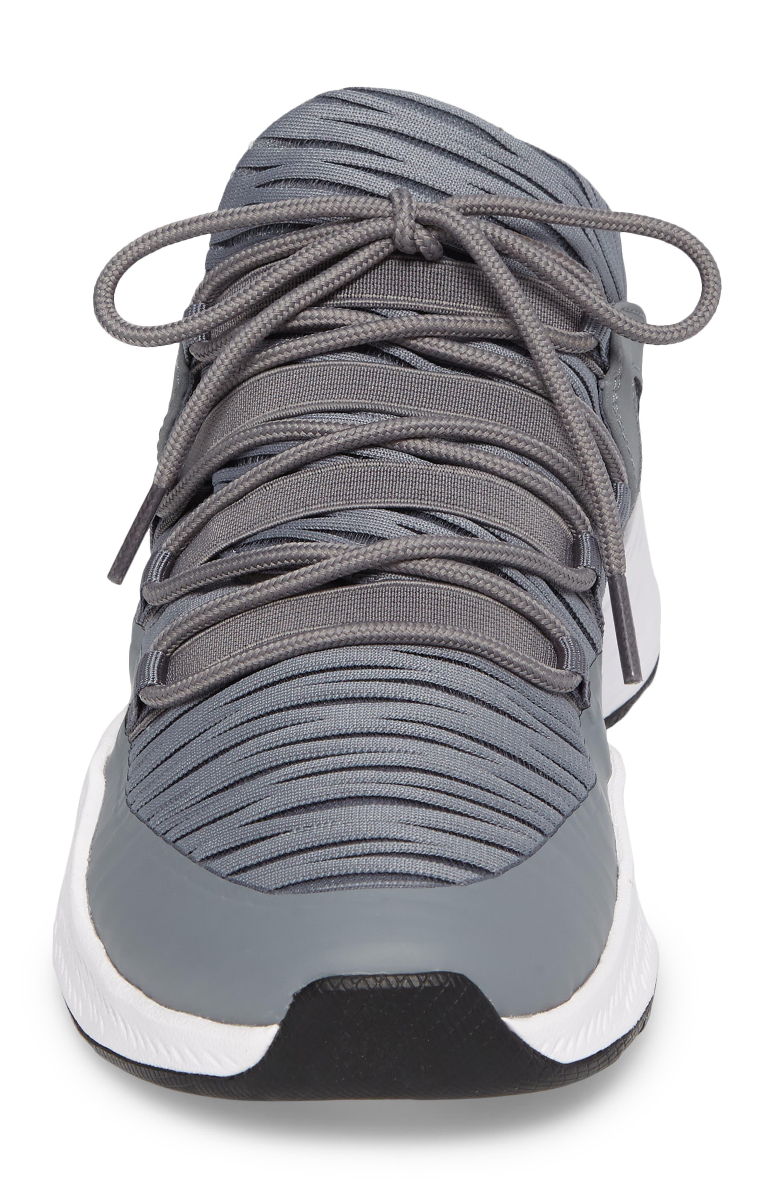 Jordan Formula 23 Low Sneaker,                             Alternate thumbnail 4, color,                             Cool Grey/ White/ Black