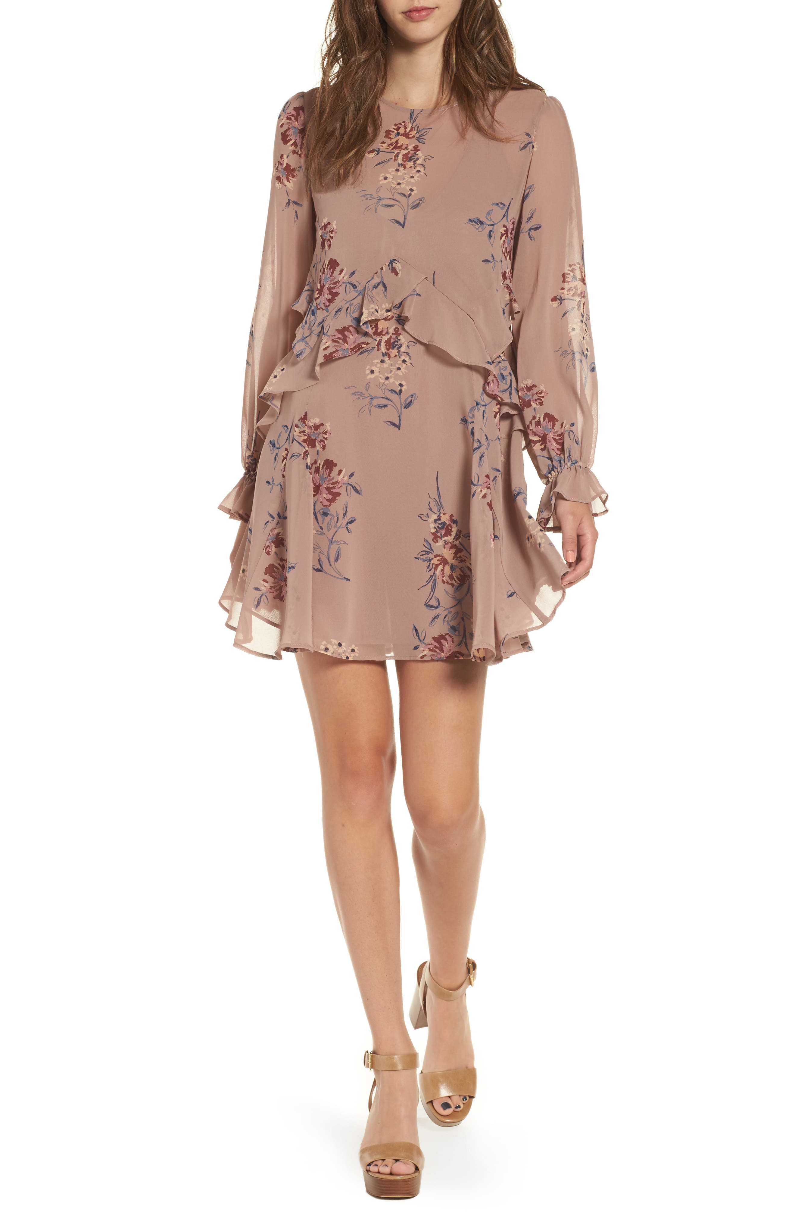 ASTR the Label Heather Fit & Flare Dress