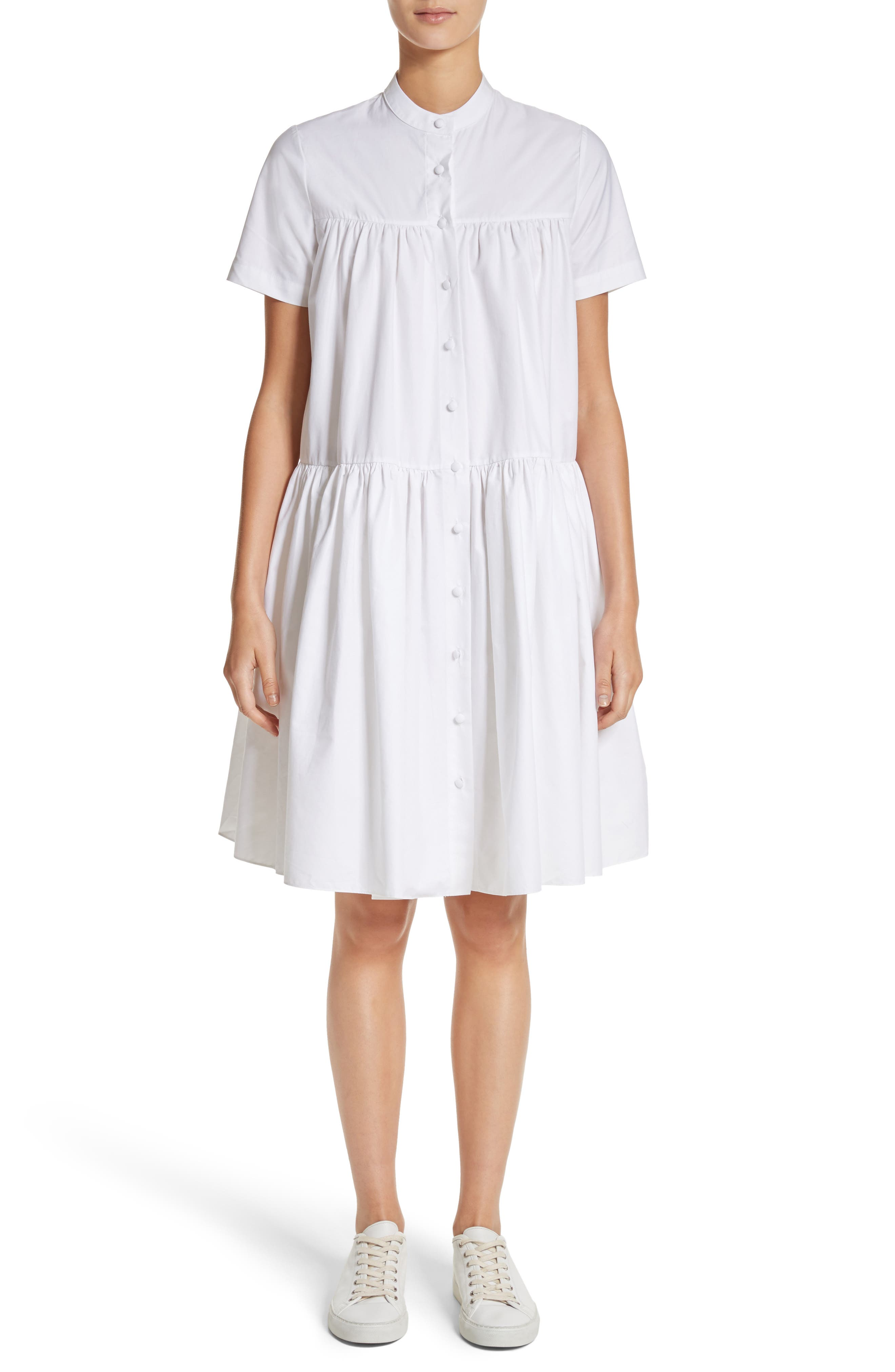 Co Tiered Puff Dress